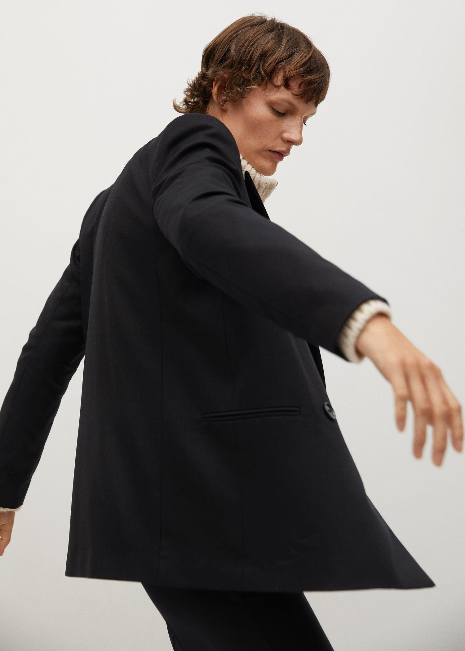 Double-breasted structured blazer 4