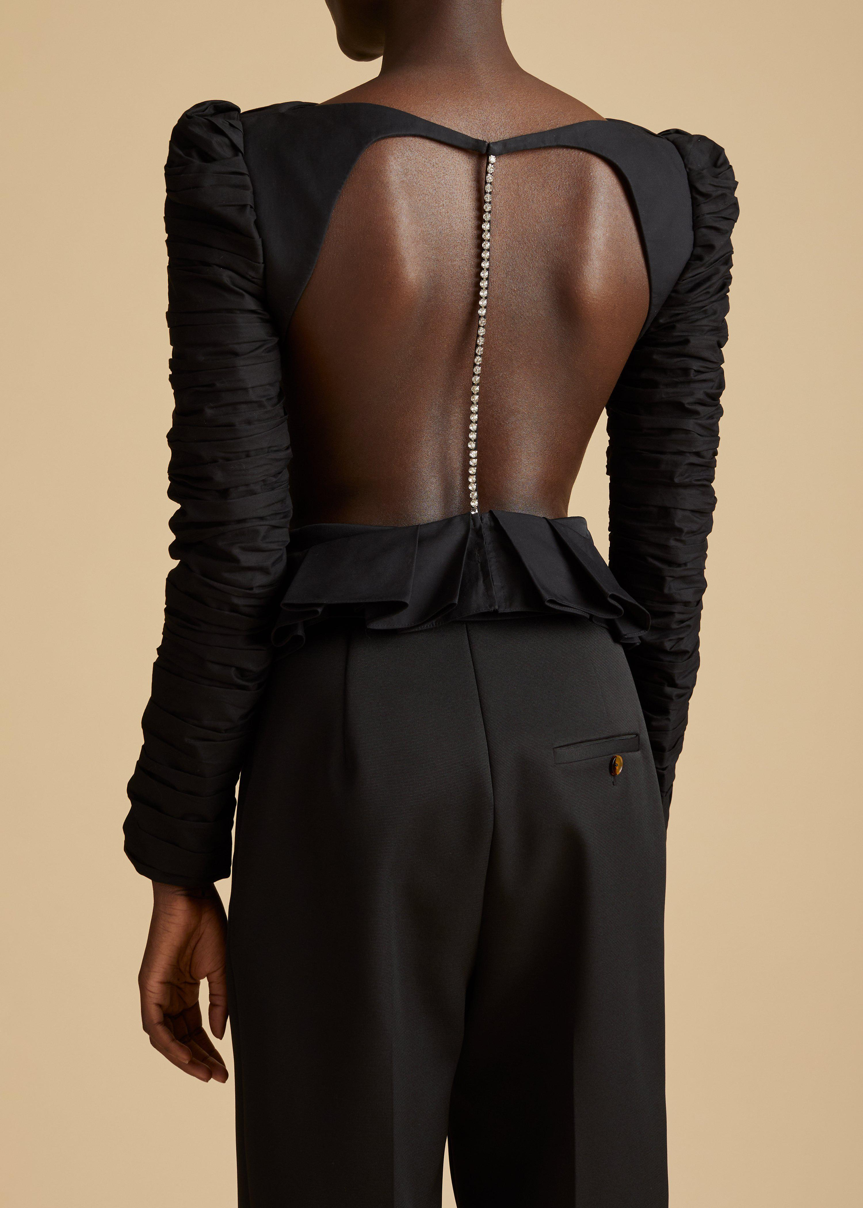 The Rosy Top in Black 2