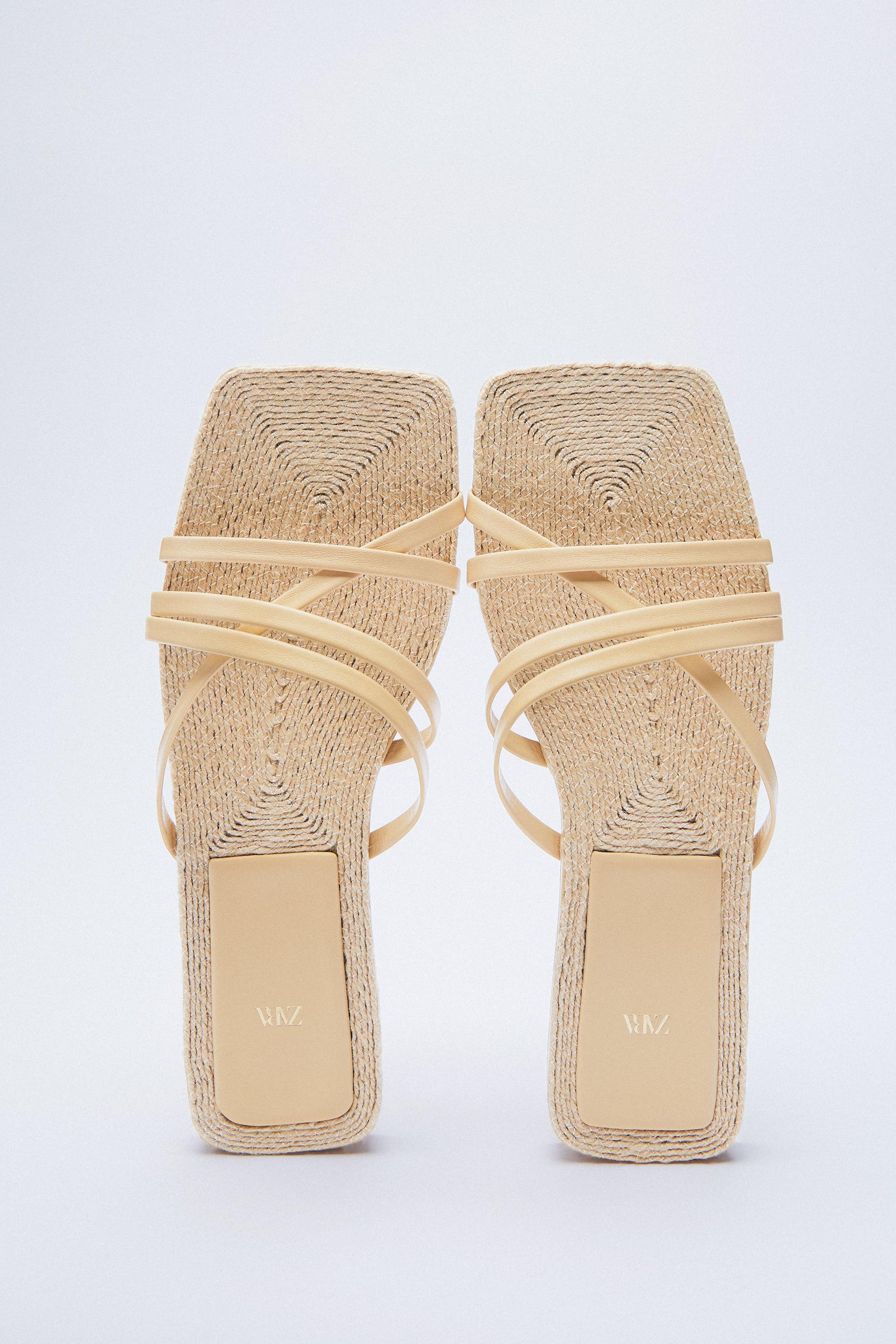 LOW HEEL LEATHER SANDALS WITH JUTE INSOLE 2
