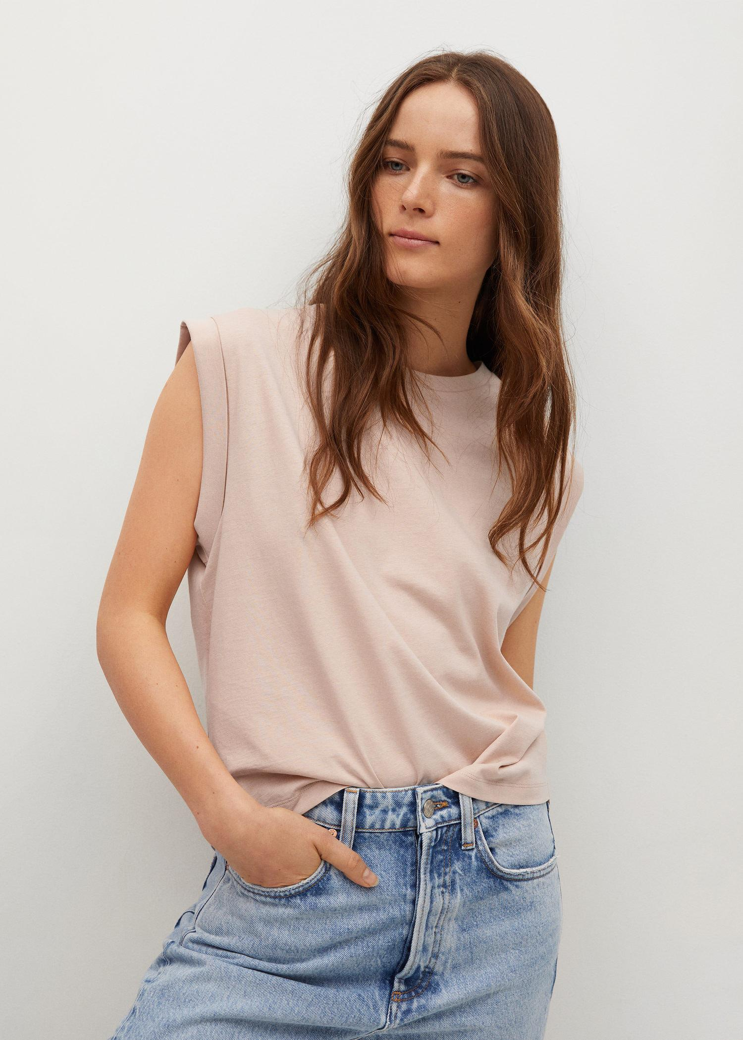 Pleated details T-shirt