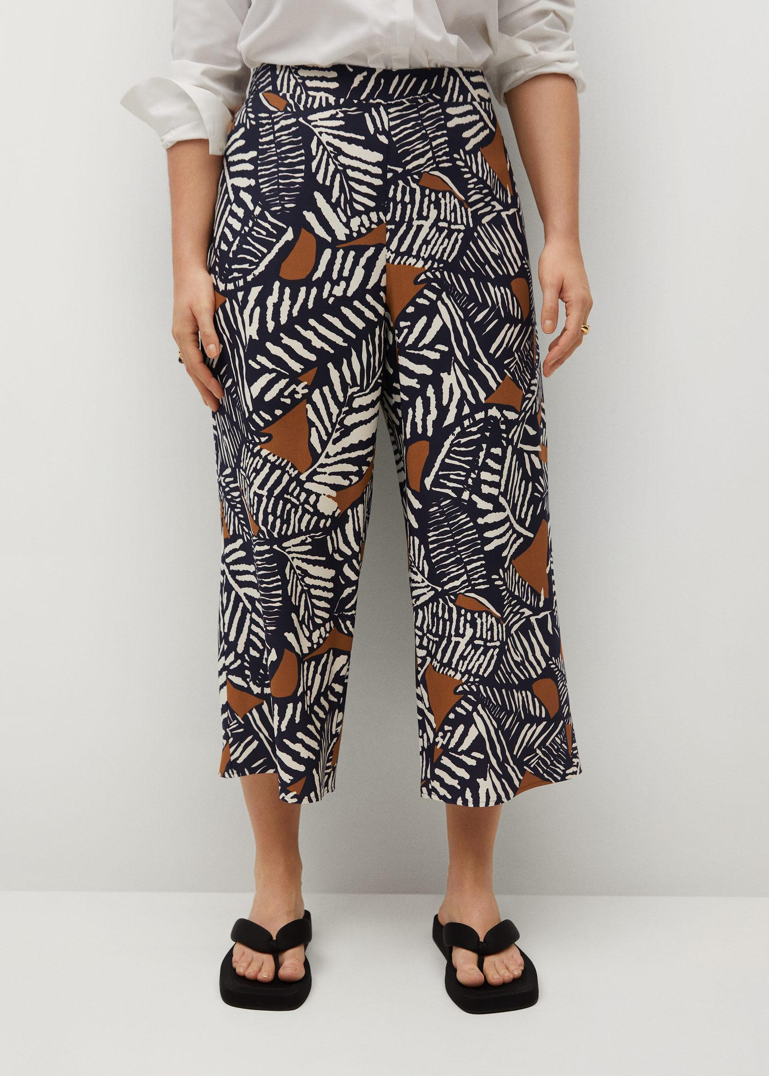 Printed culotte trousers 1
