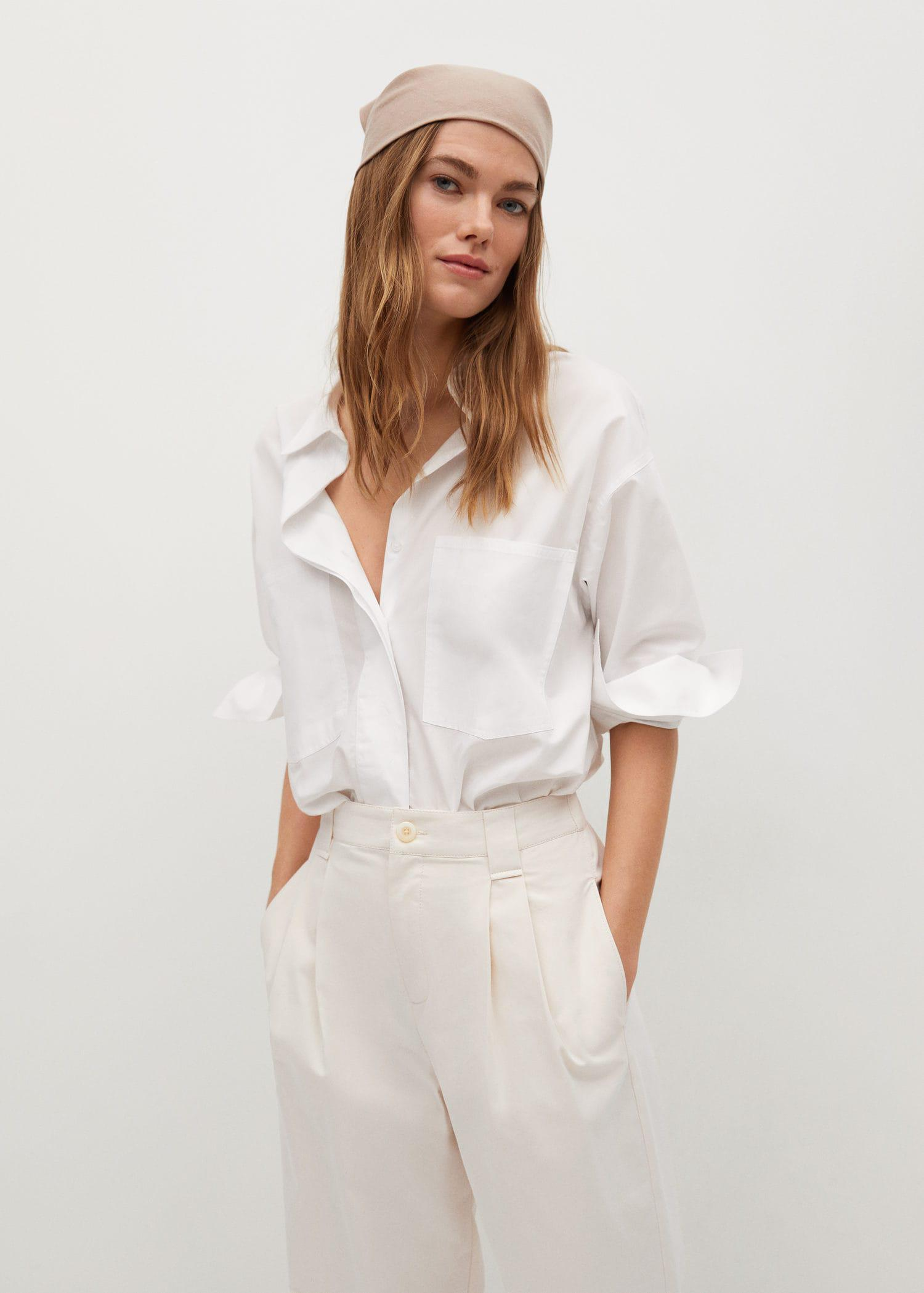 Pleat straight trousers 4