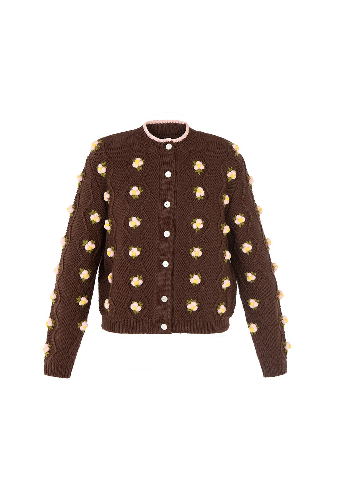 Chester Cardigan - Brown 5