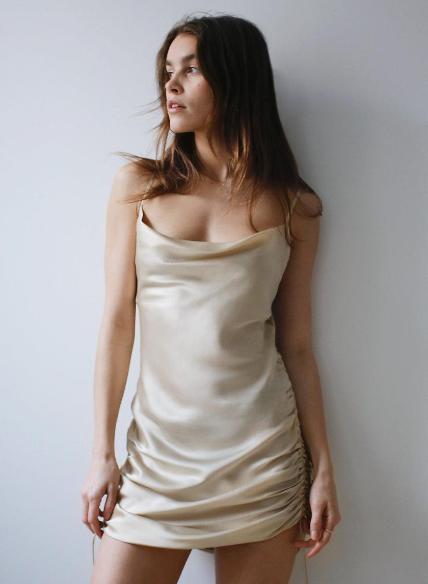 Only Ruched Slip Dress