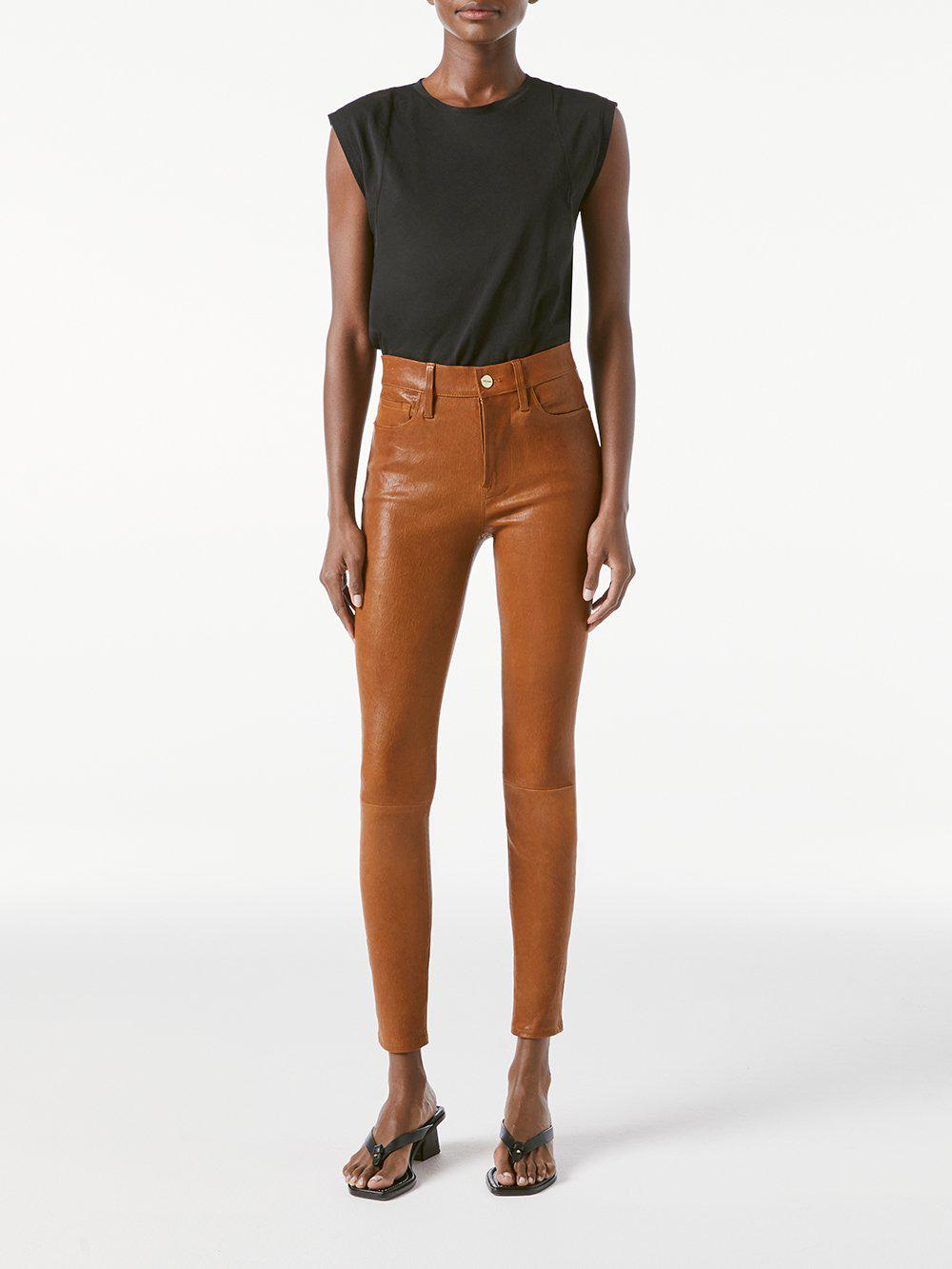 Leather Le High Skinny -- Tobacco