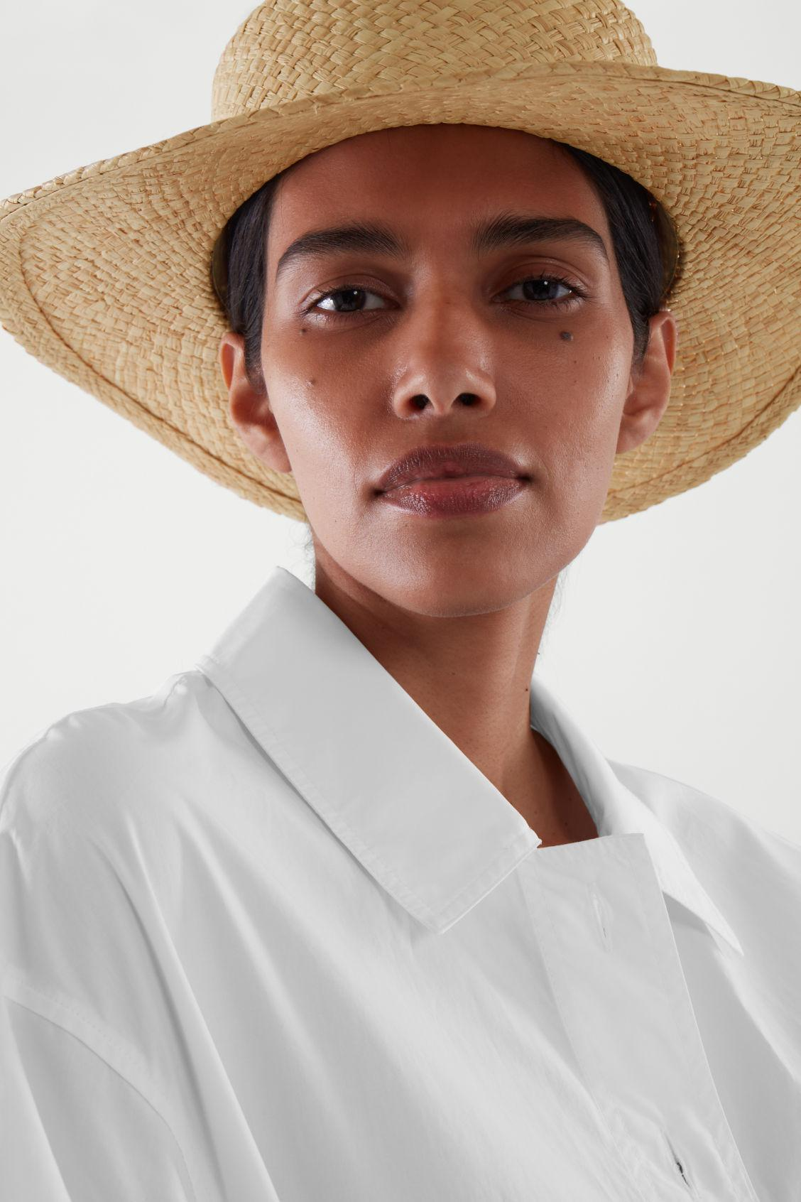 OVERSIZED STRAW BOATER HAT 4