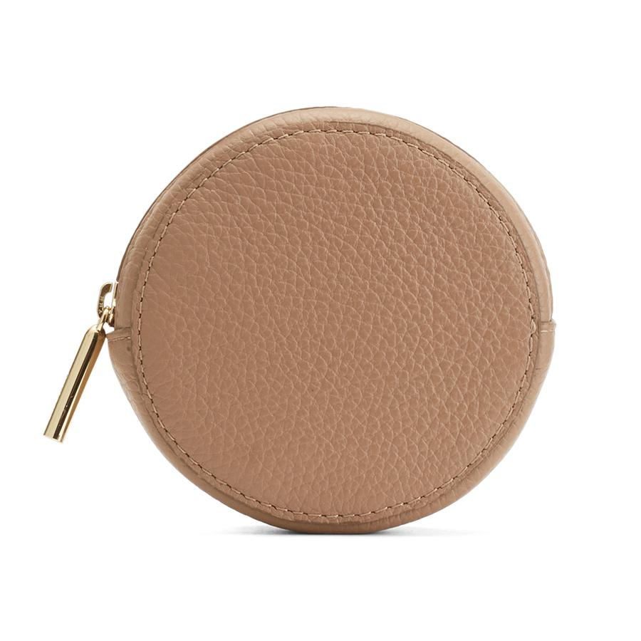 Women's Circle Pouch Add-On in Cappuccino | Pebbled Leather by Cuyana