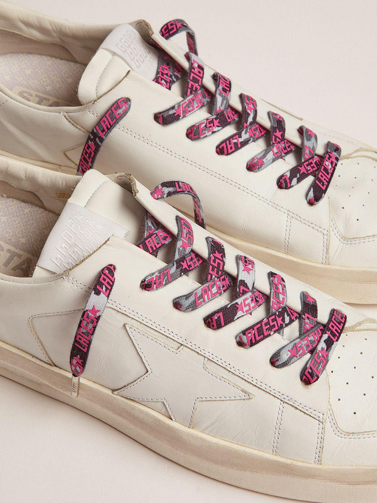 Women's grey camouflage laces with pink laces print
