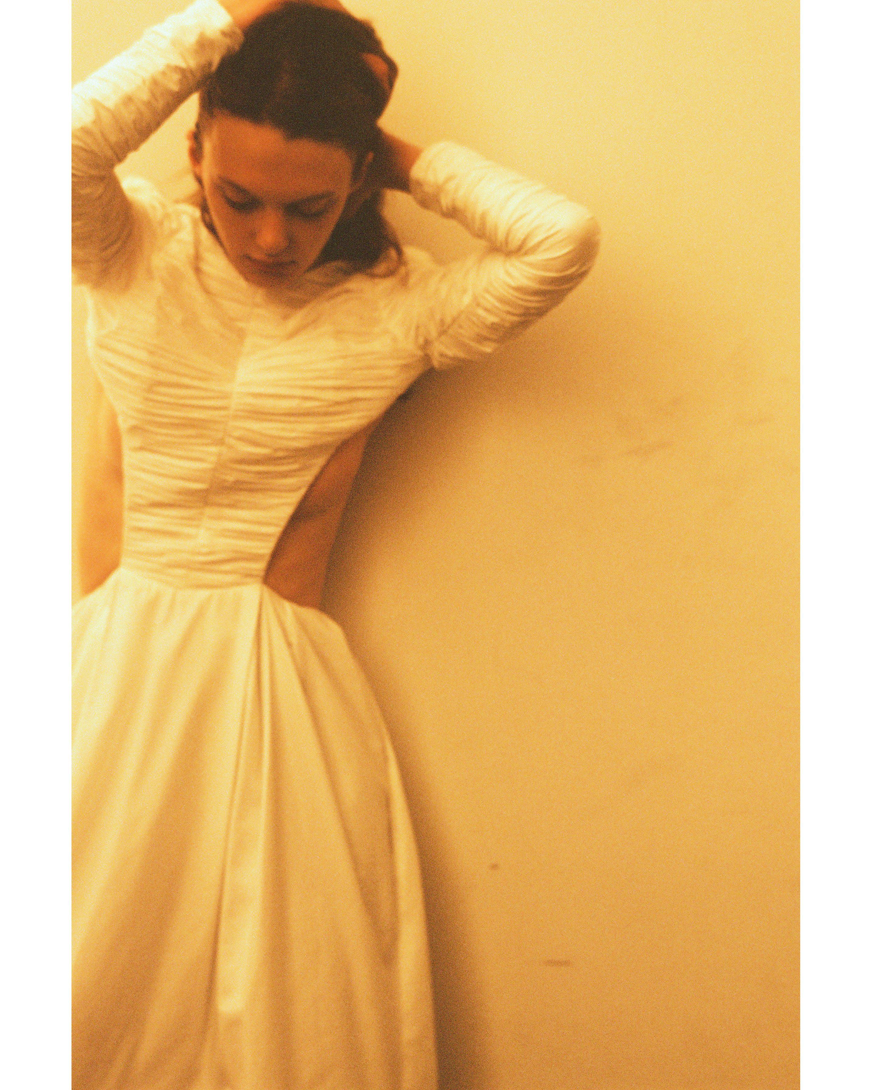 The Rosaline Dress with Petticoat in White 3