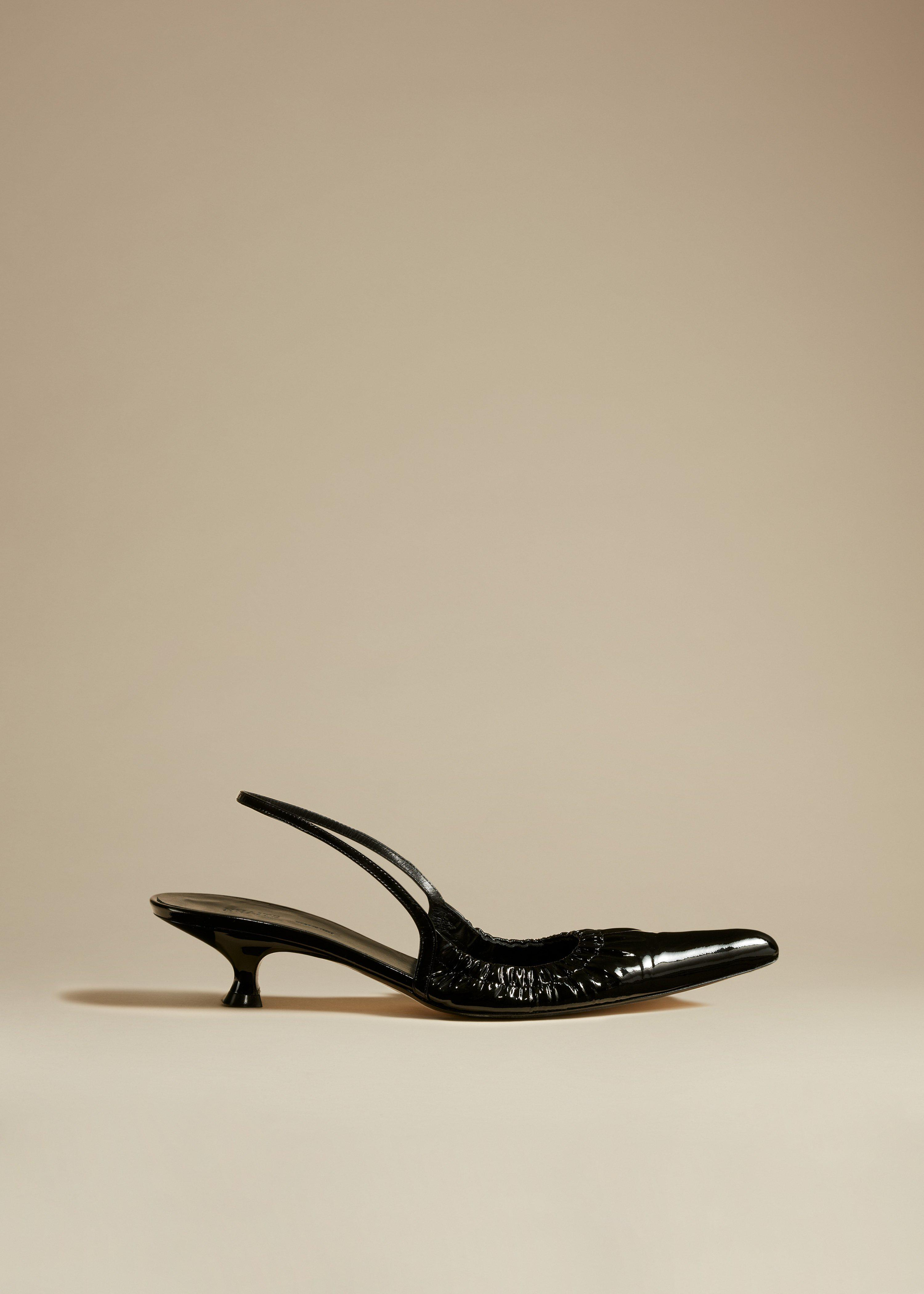 The Athens Pump in Black Patent Leather