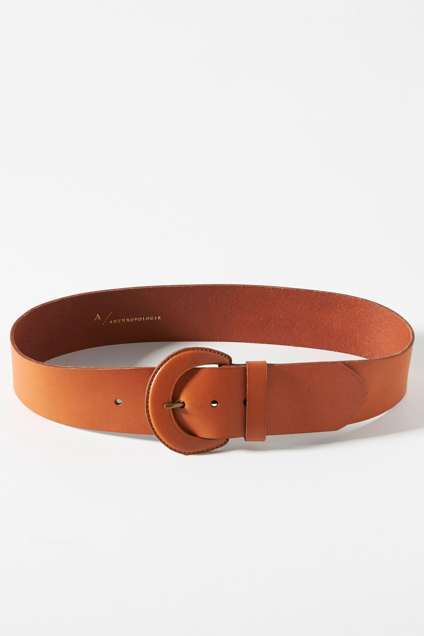 Leather Covered Buckle Belt