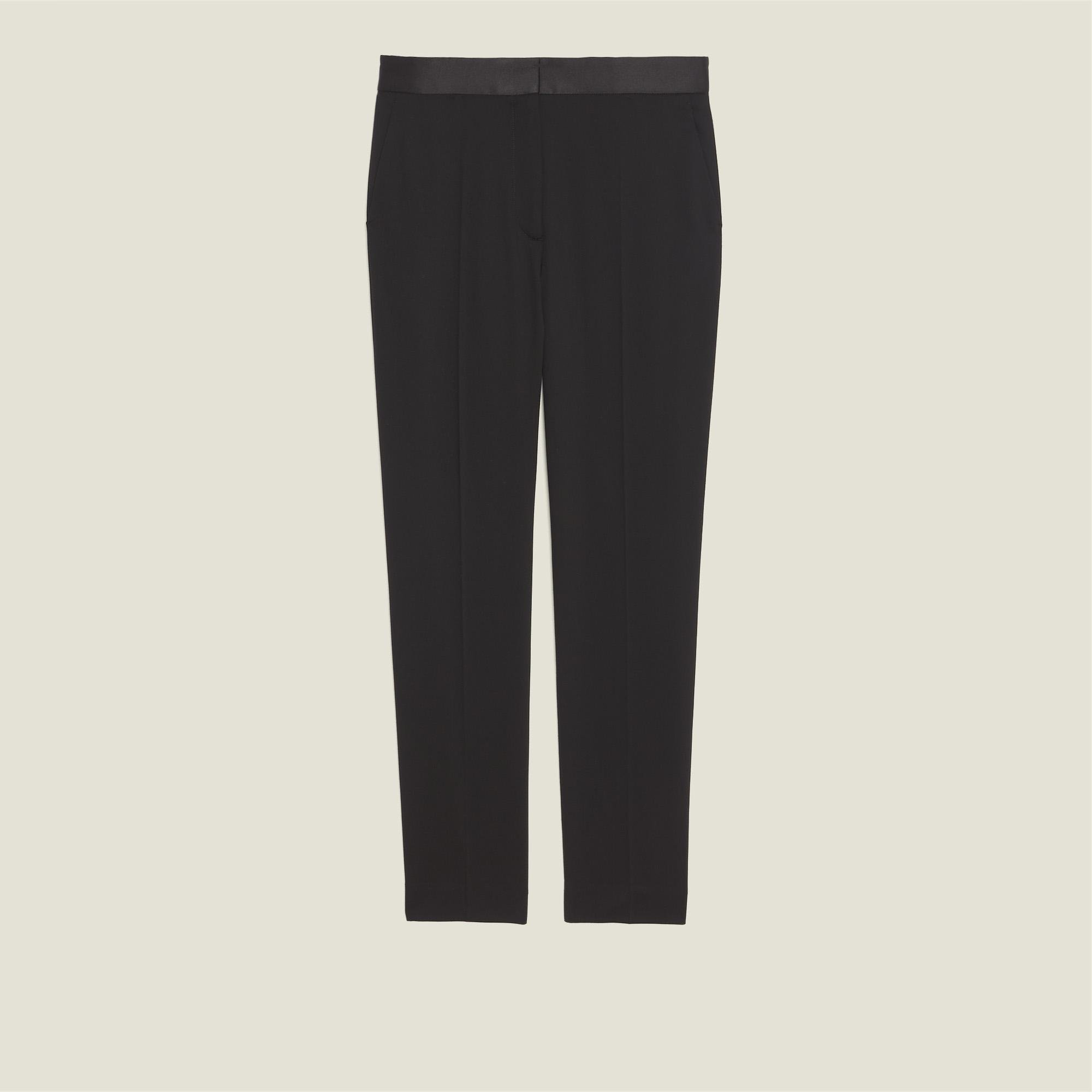 Pants with satin inset 5