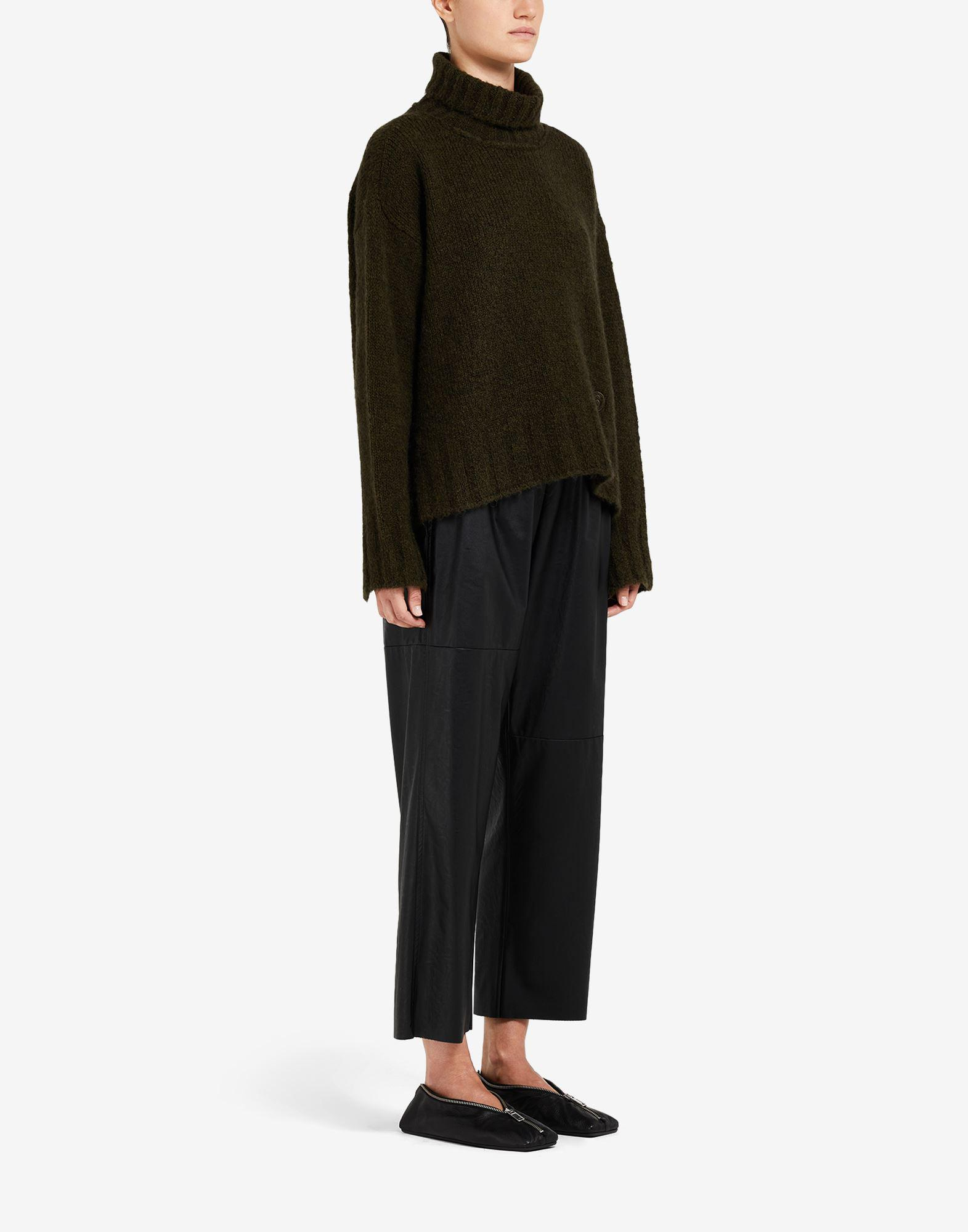 Hairy knit roll-neck sweater 1