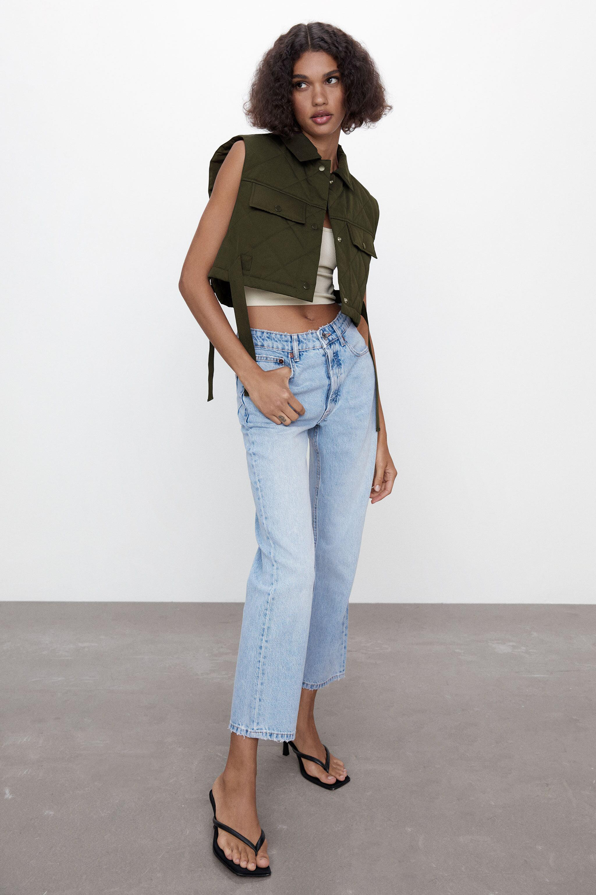 QUILTED CROPPED VEST