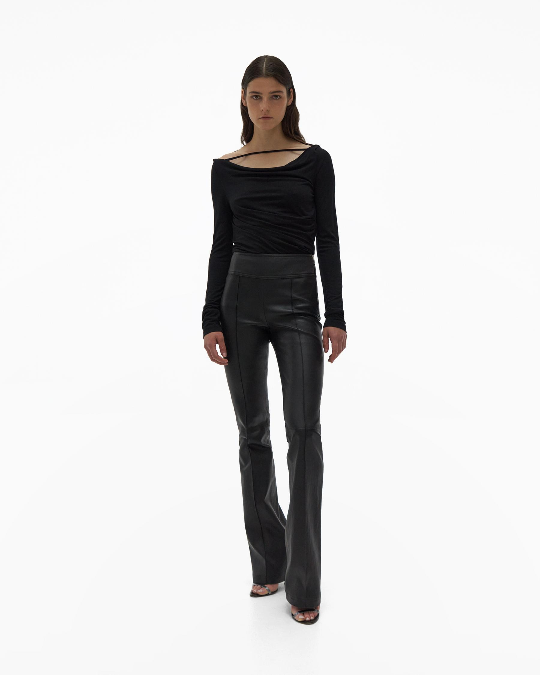 BOOTCUT LEATHER PANT