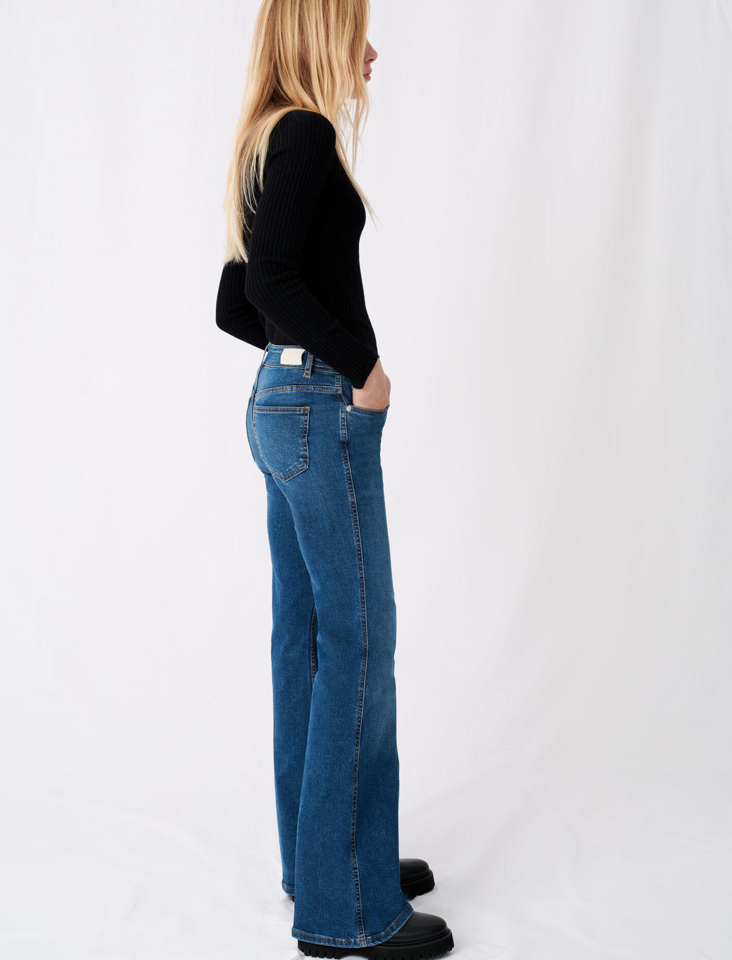 FLARED JEANS WITH HORSEBIT DETAIL 1