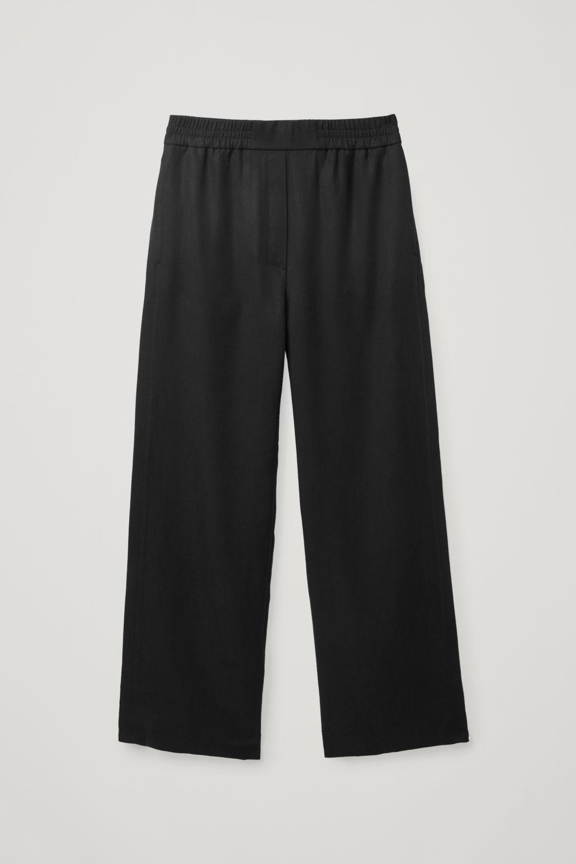 ELASTICATED RELAXED-LEG TROUSERS 7