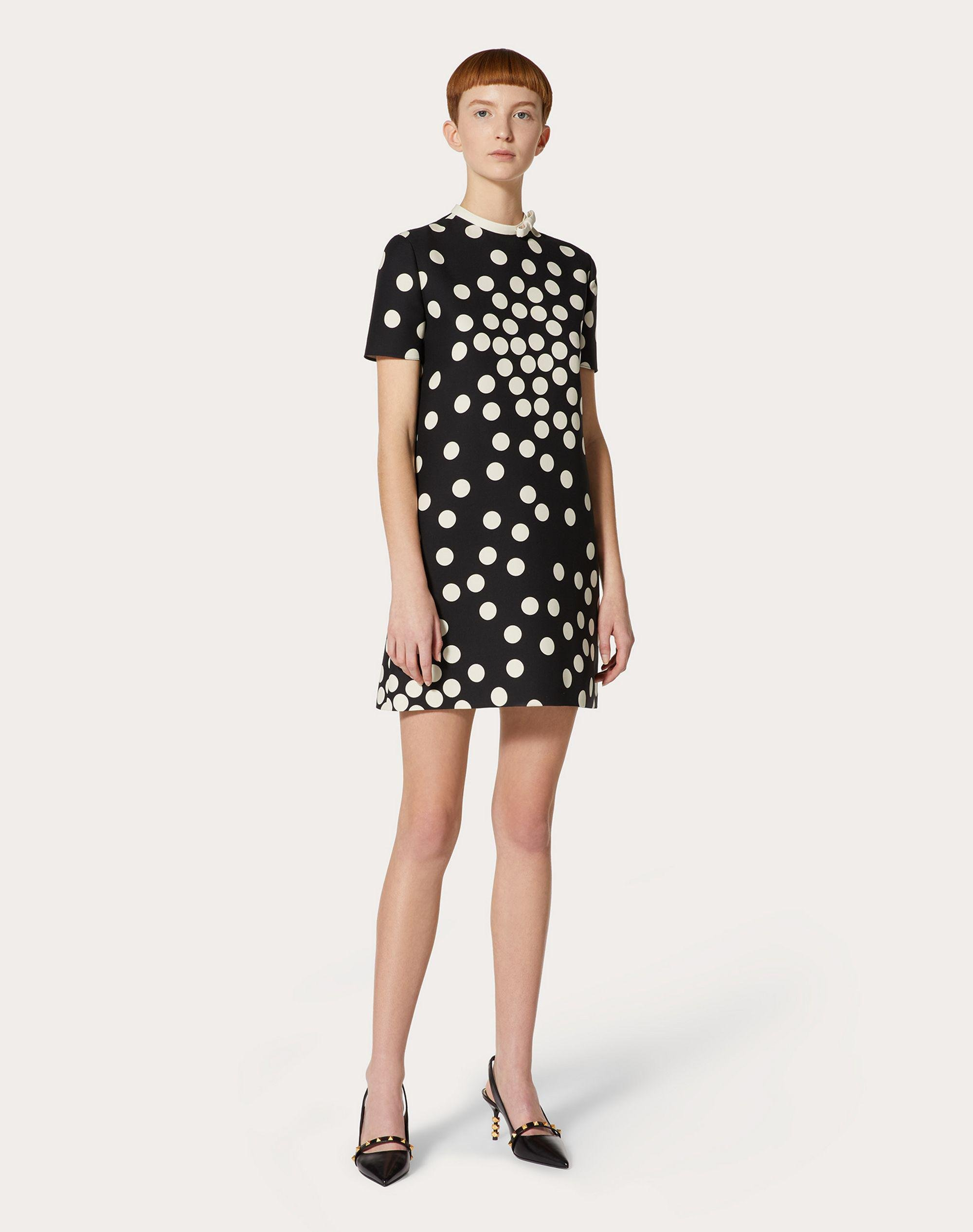 SHORT PRINTED CREPE COUTURE DRESS 1