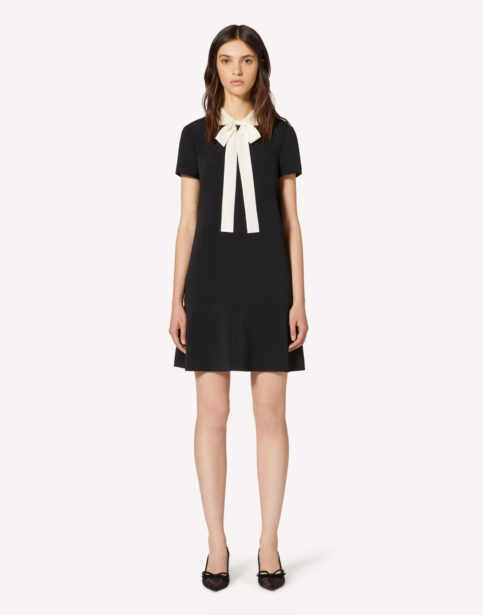 FRISOTTINO DRESS WITH COLLAR DETAIL
