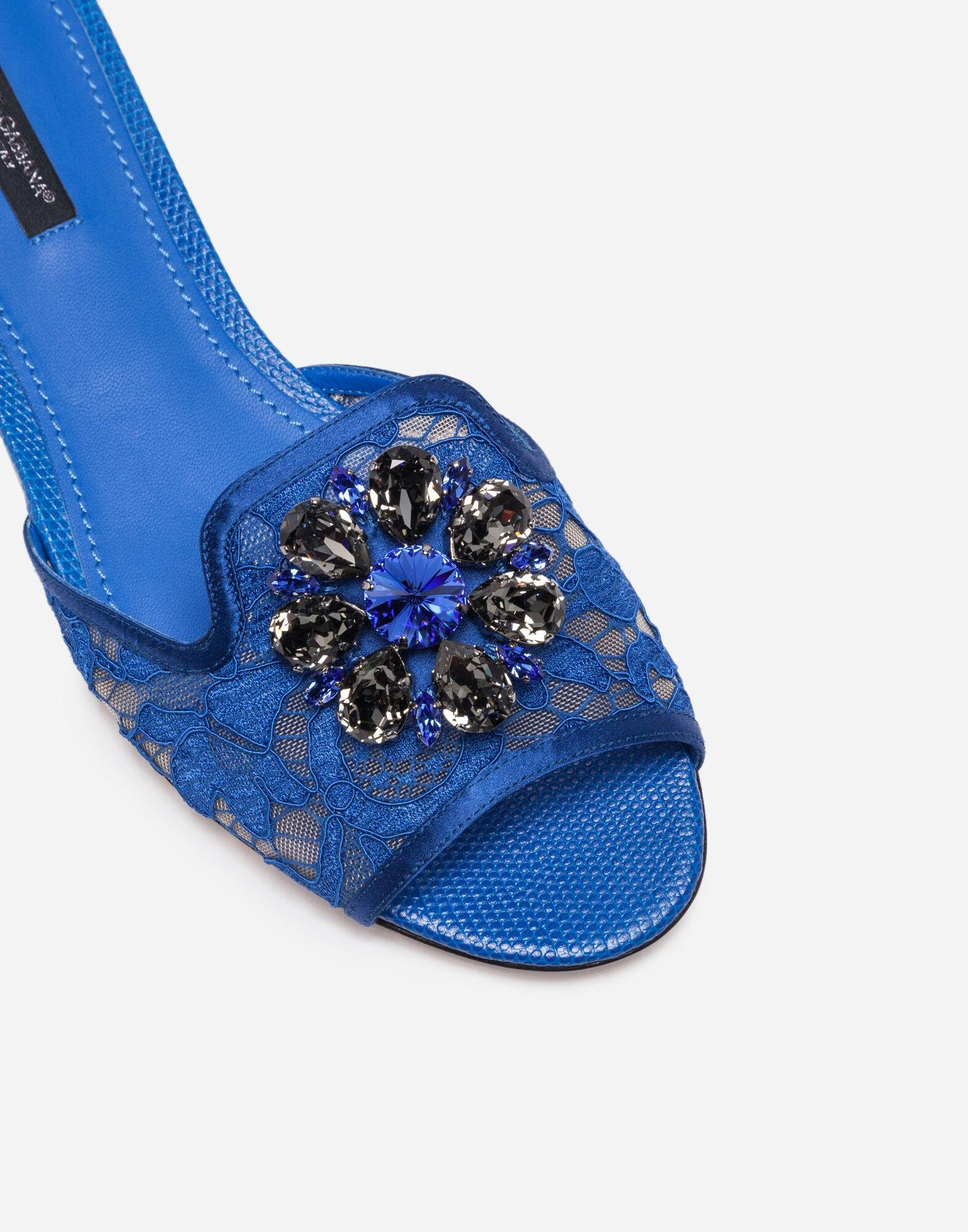 Slippers in lace with crystals 1
