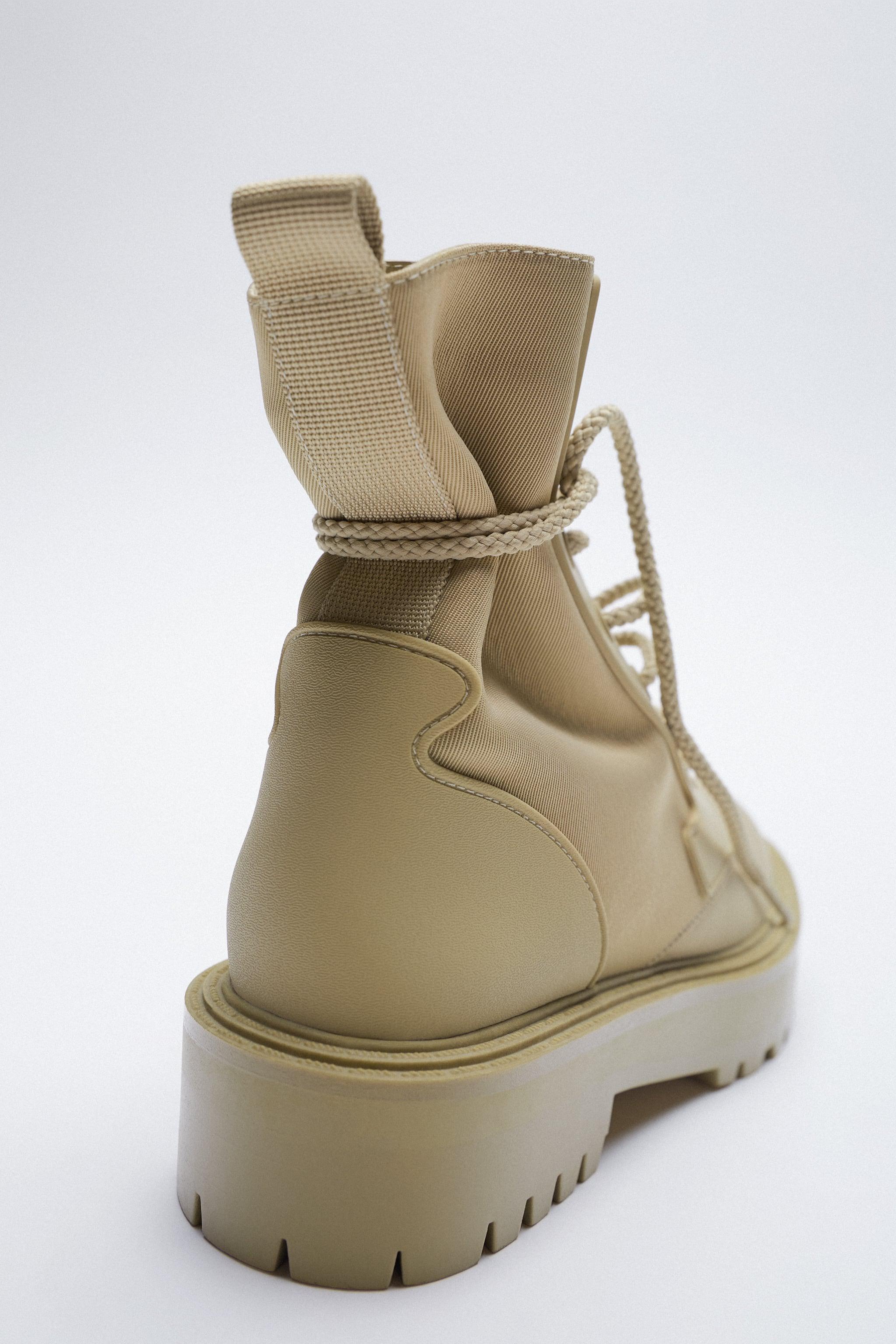 FAUX SHEARLING LINED ANKLE BOOTS 5