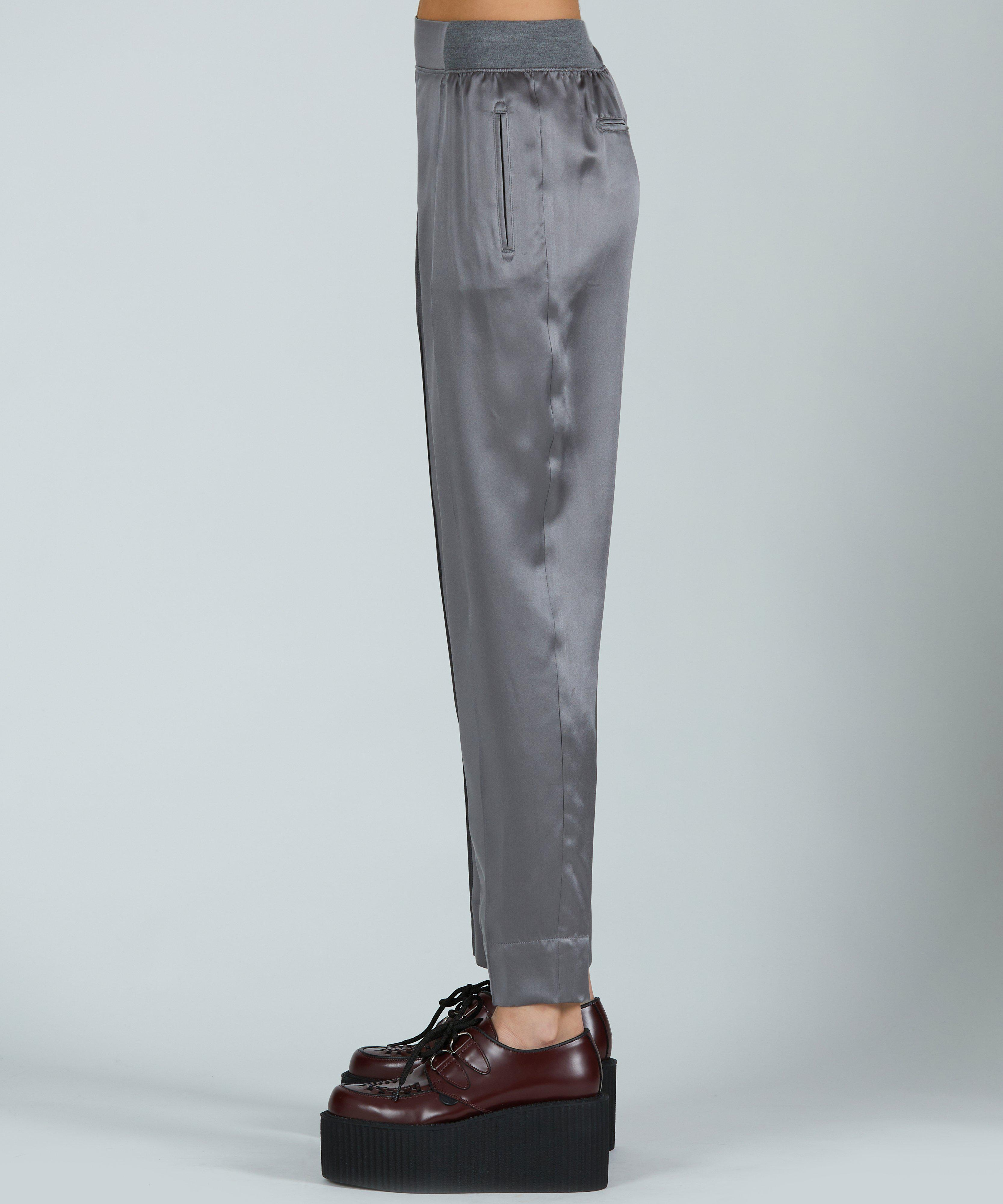 Silk Pull-On Pant - Pewter 1