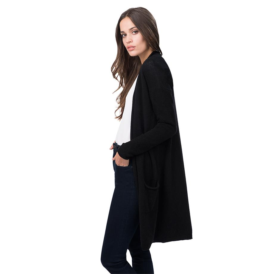 Women's Open Cashmere Cardigan in Black   Size: XS/Small   100% Italian Cashmere by Cuyana 2