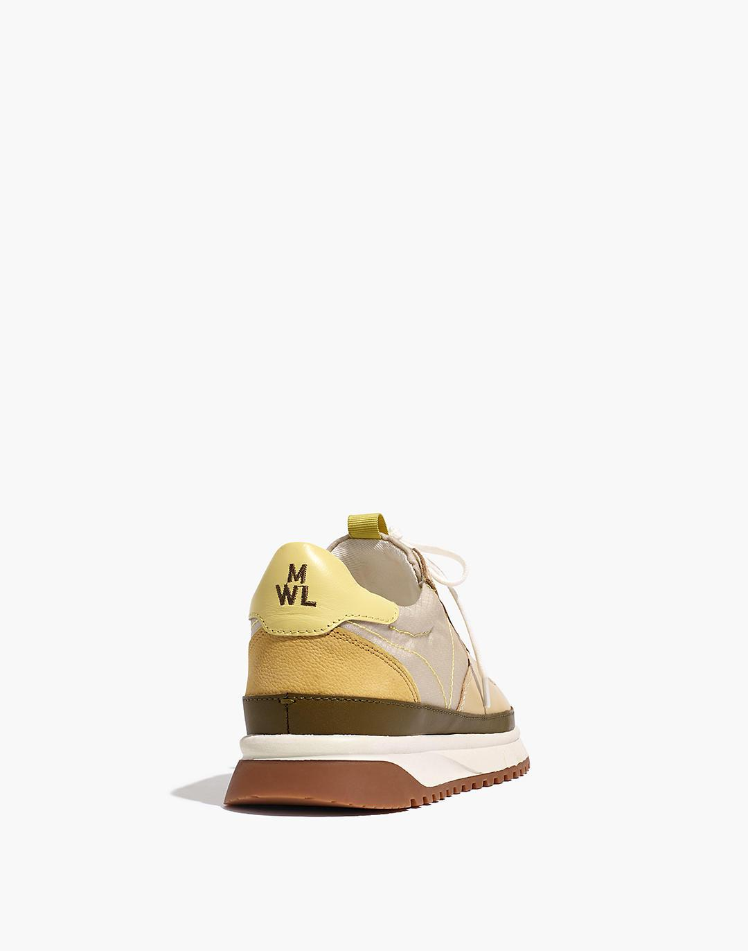 Kickoff Trainer Sneakers in Ripstop Nylon and Leather 2