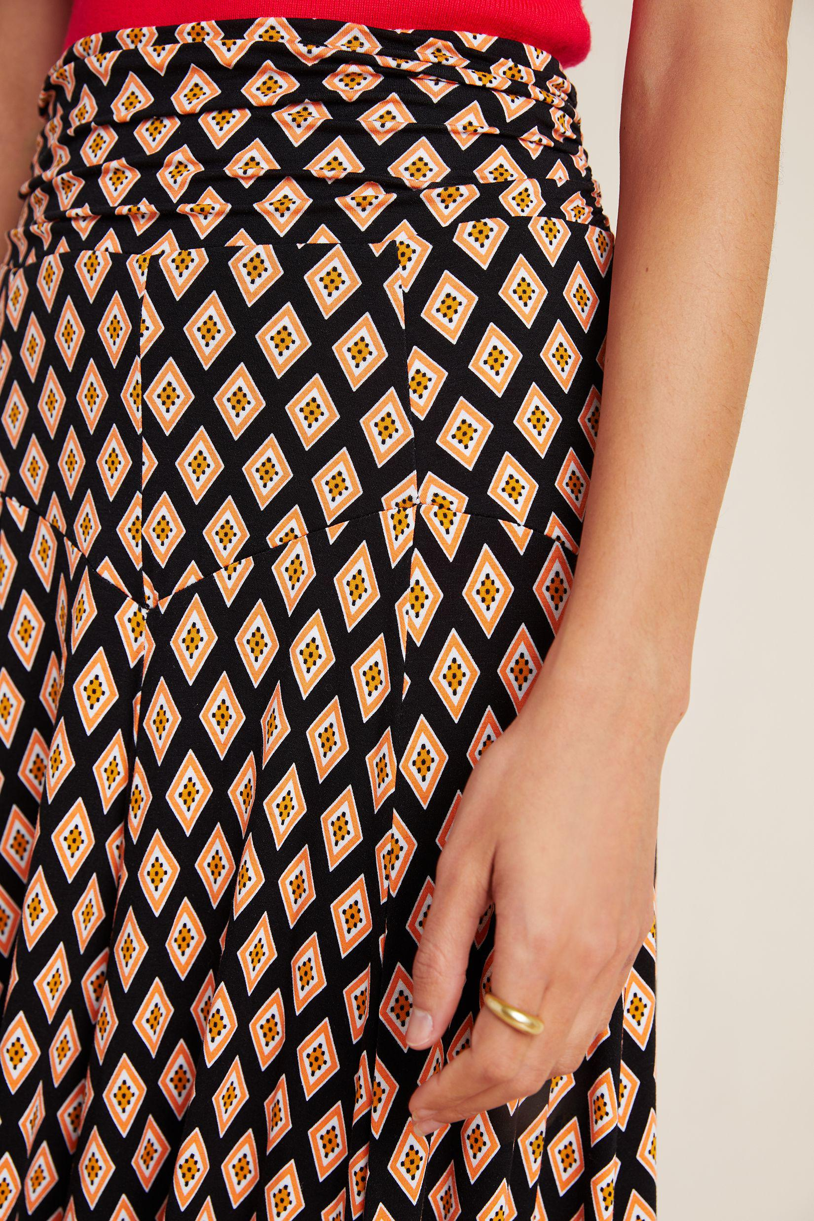 Maeve Abstract Maxi Skirt 3