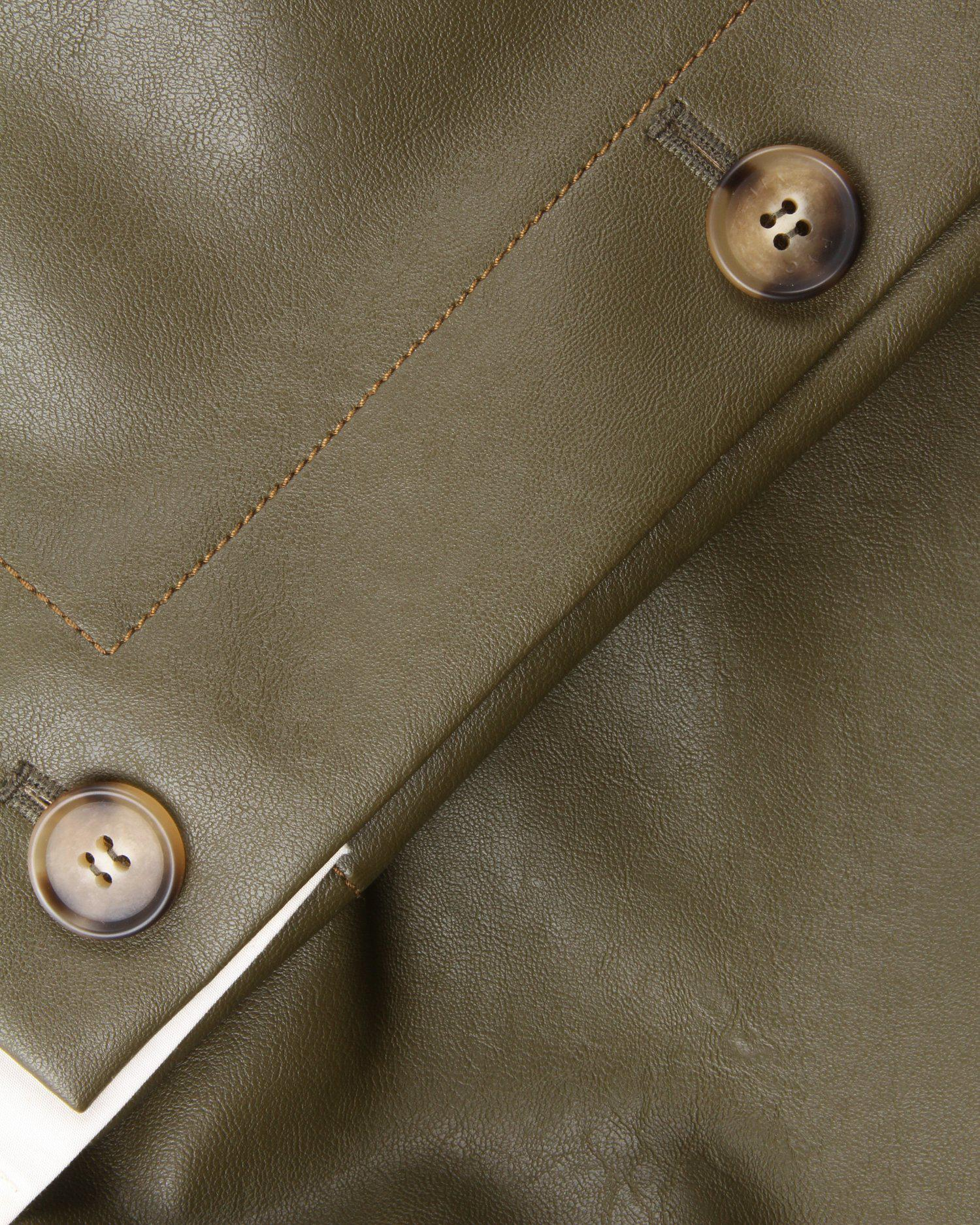 Noemi Trousers Faux Leather Green 4