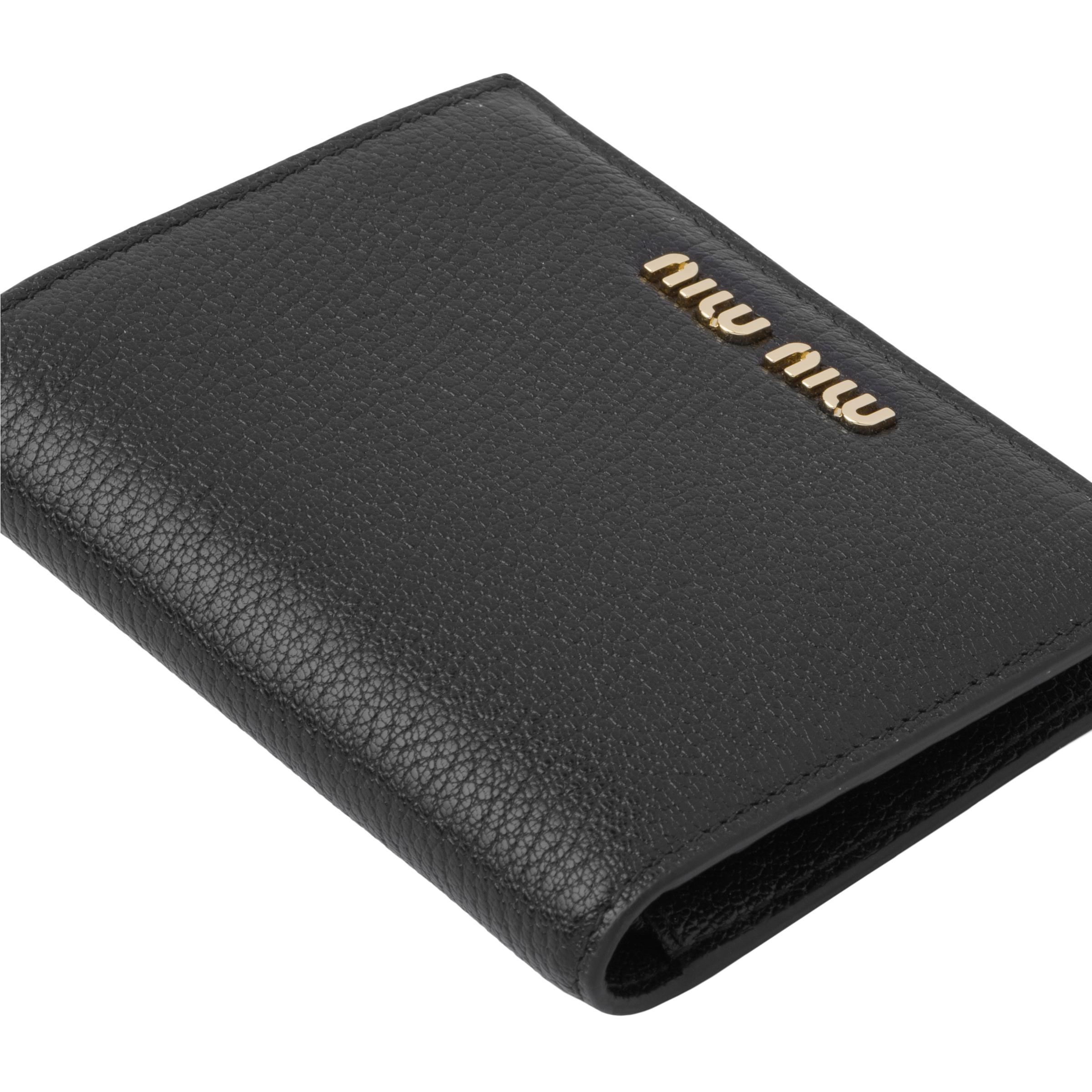 Madras Colour Leather Wallet Women Black/fiery Red 5