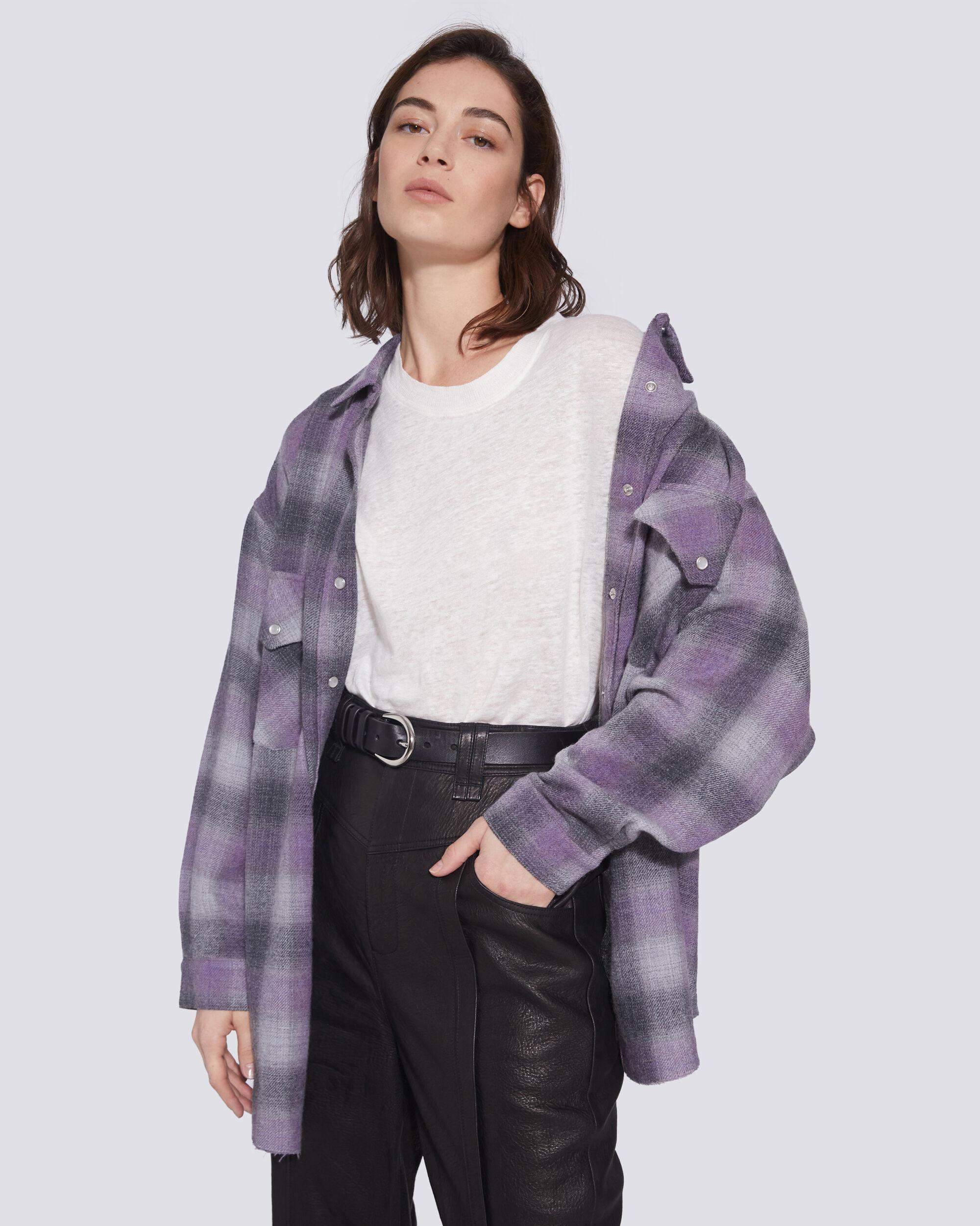 GOWEST RELAXED PLAID FLANNEL OVERSHIRT