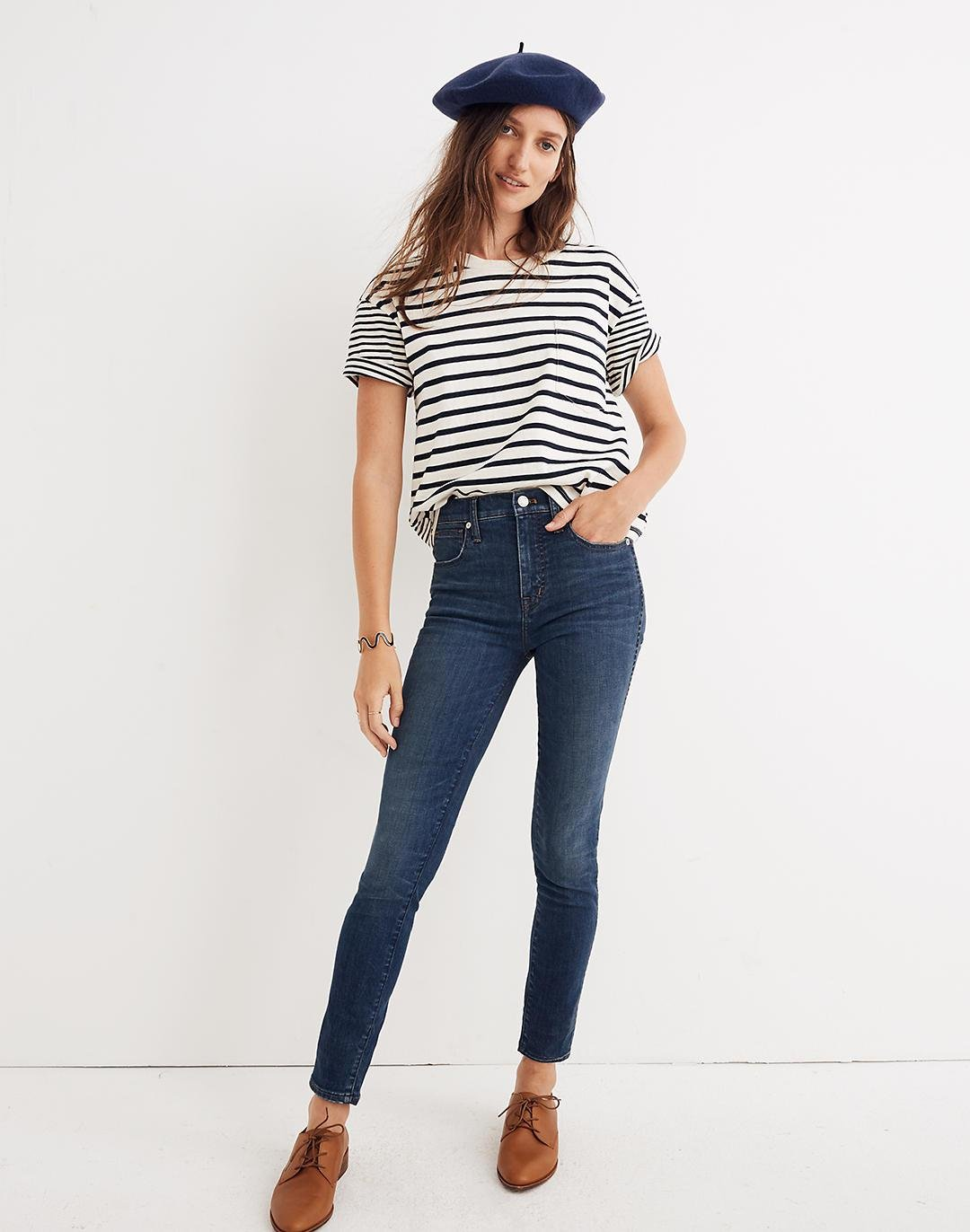 """Taller 10"""" High-Rise Skinny Jeans in Elinor Wash: Eco Edition"""
