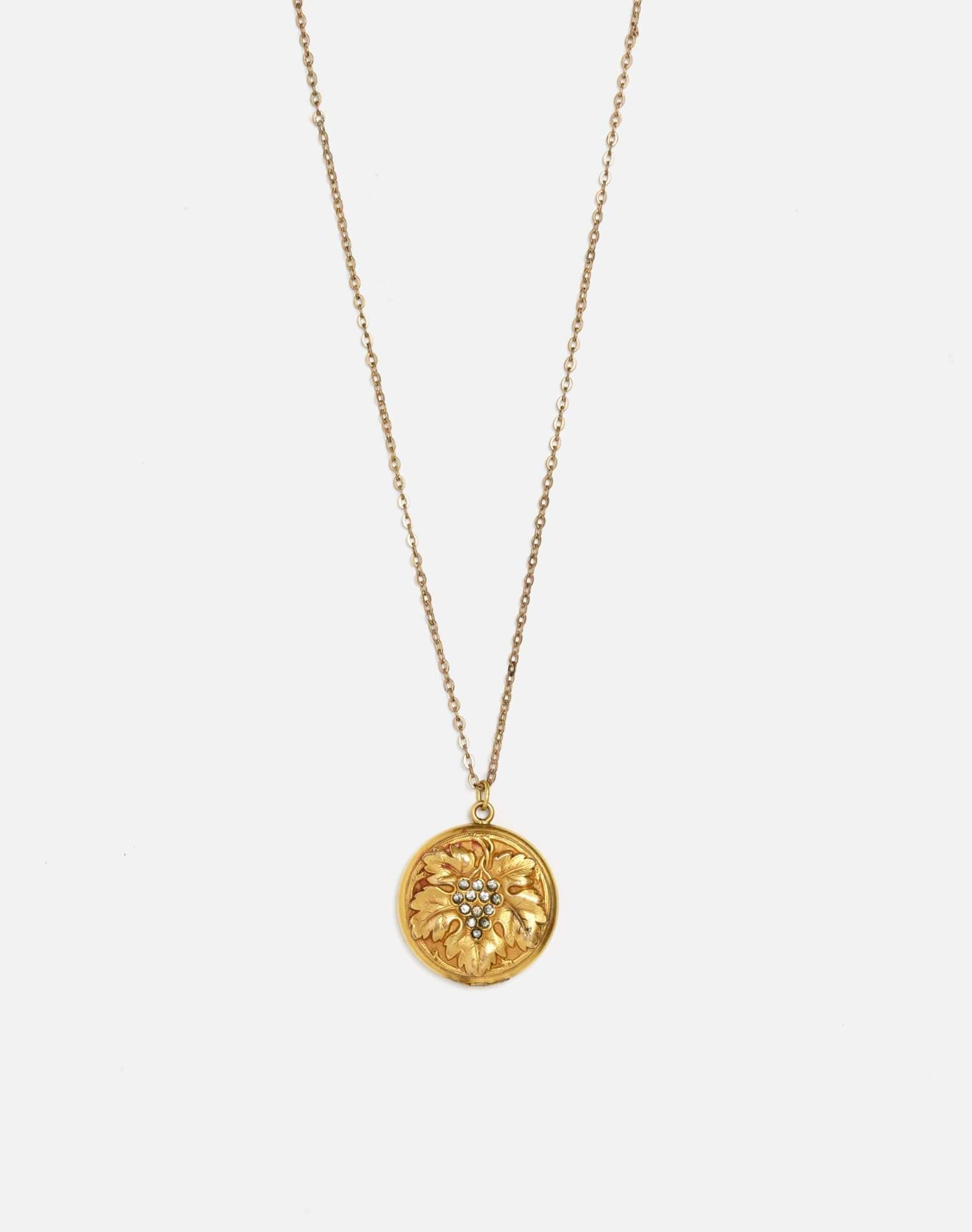 Turn Of The Century Grapes Of Wrath Gold-Filled Locket - #109