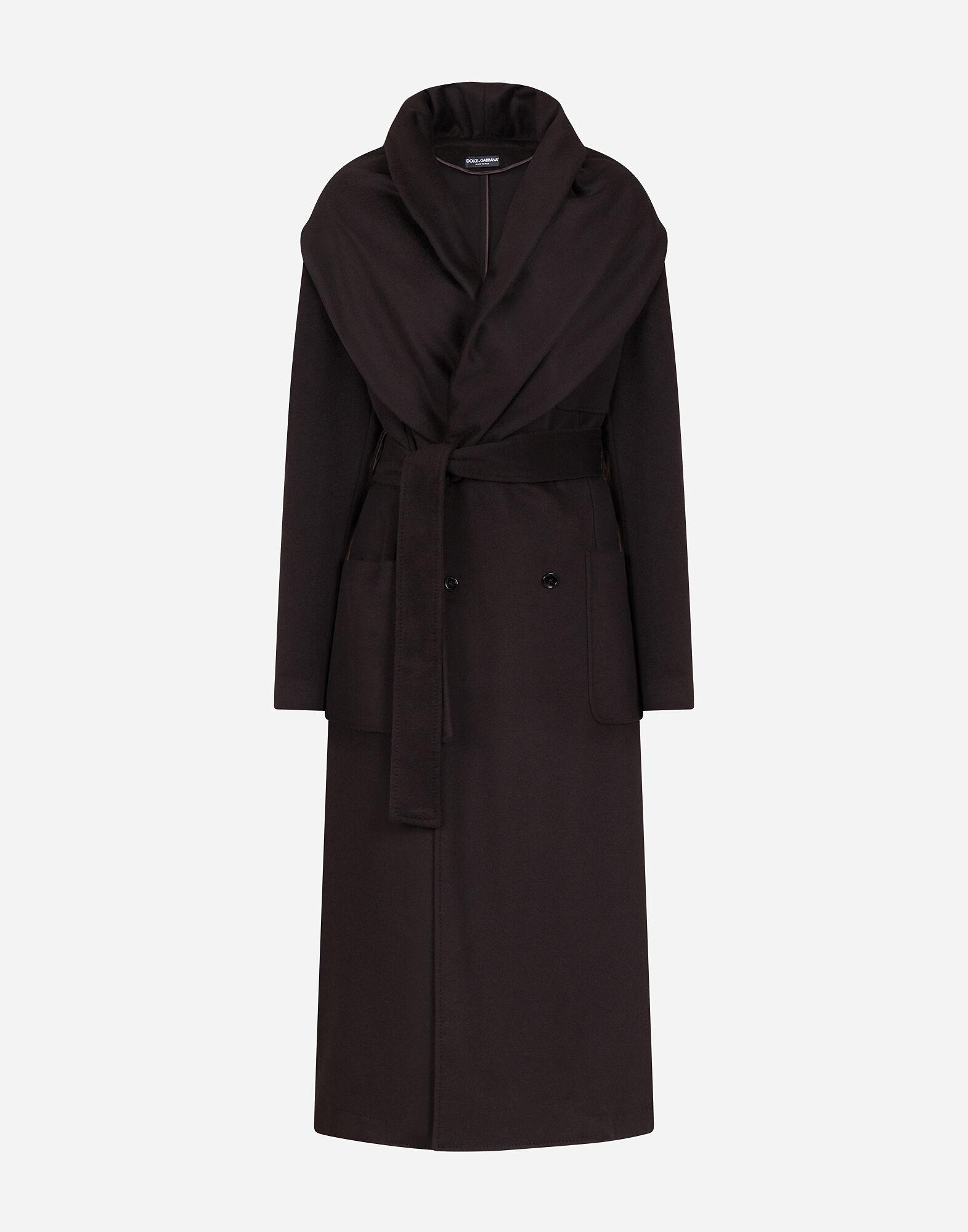Belted cashmere robe coat 3