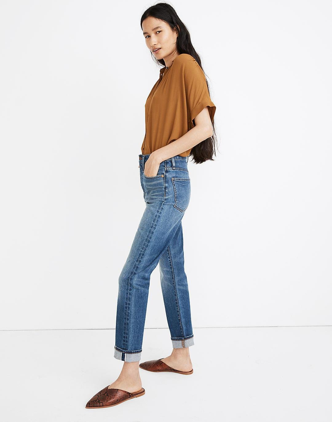Tall Classic Straight Jeans in Ives Wash: Selvedge Edition 1