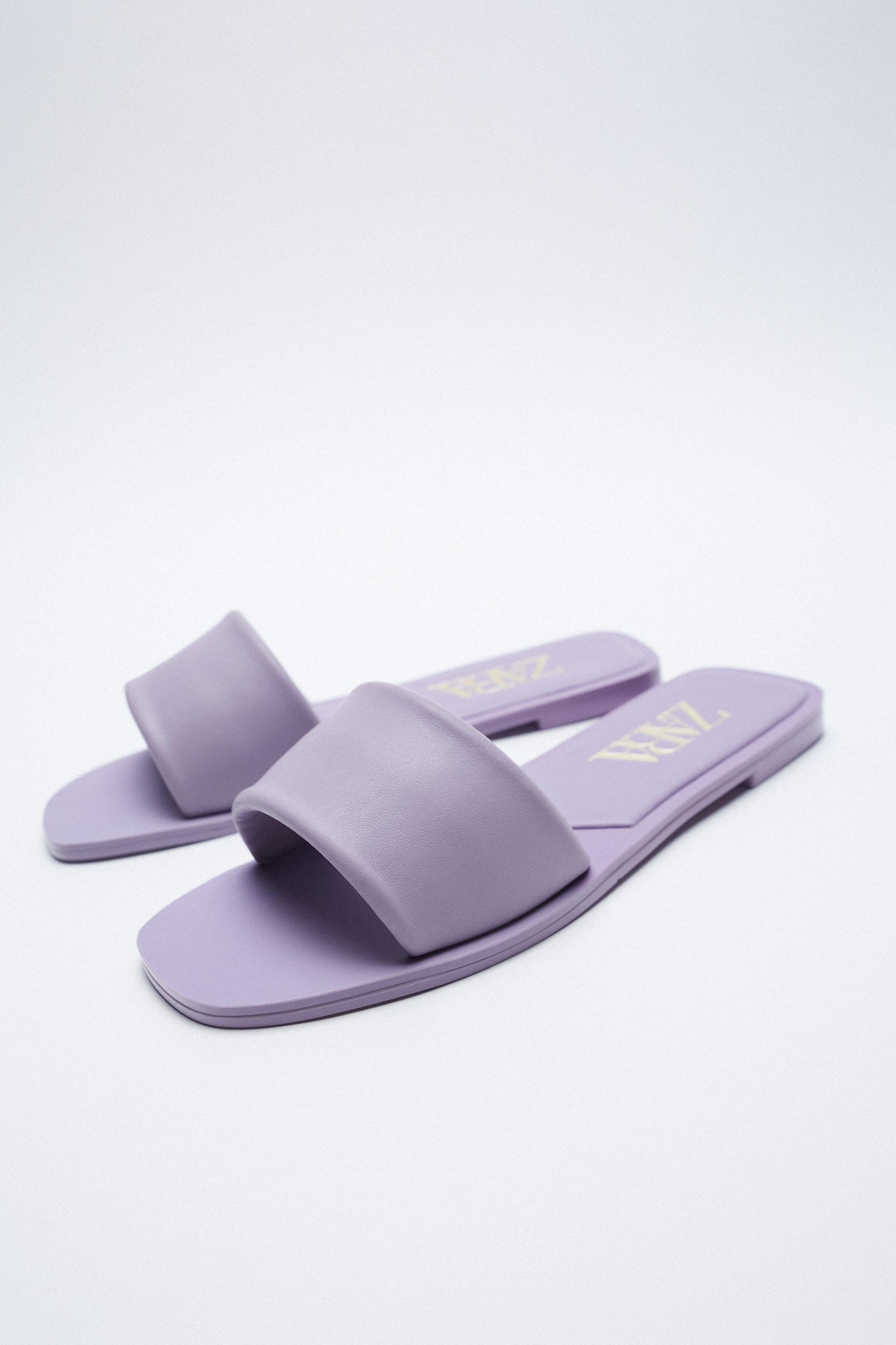 FLAT PADDED LEATHER SANDALS 2