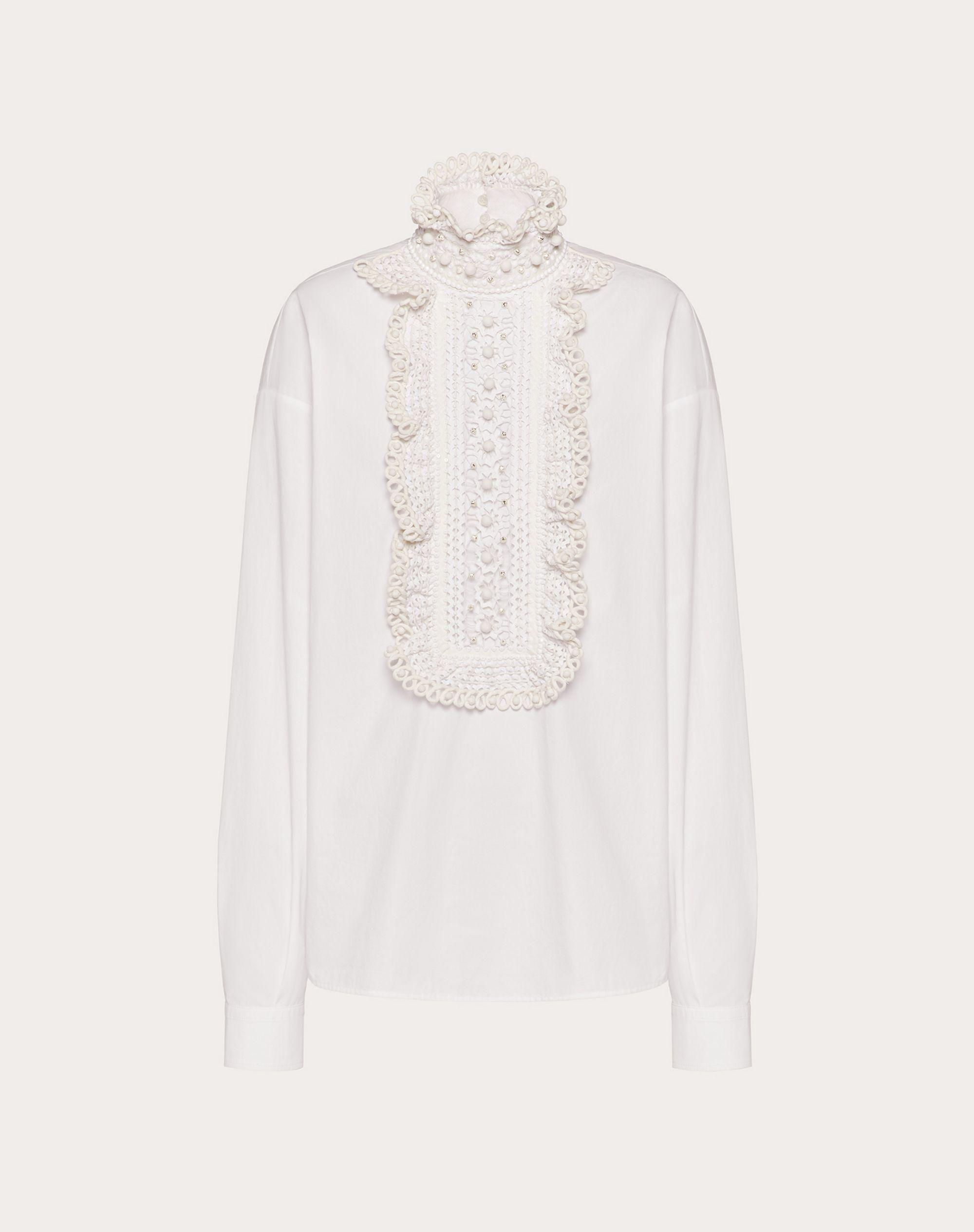 EMBROIDERED COTTON POPLIN TOP 4
