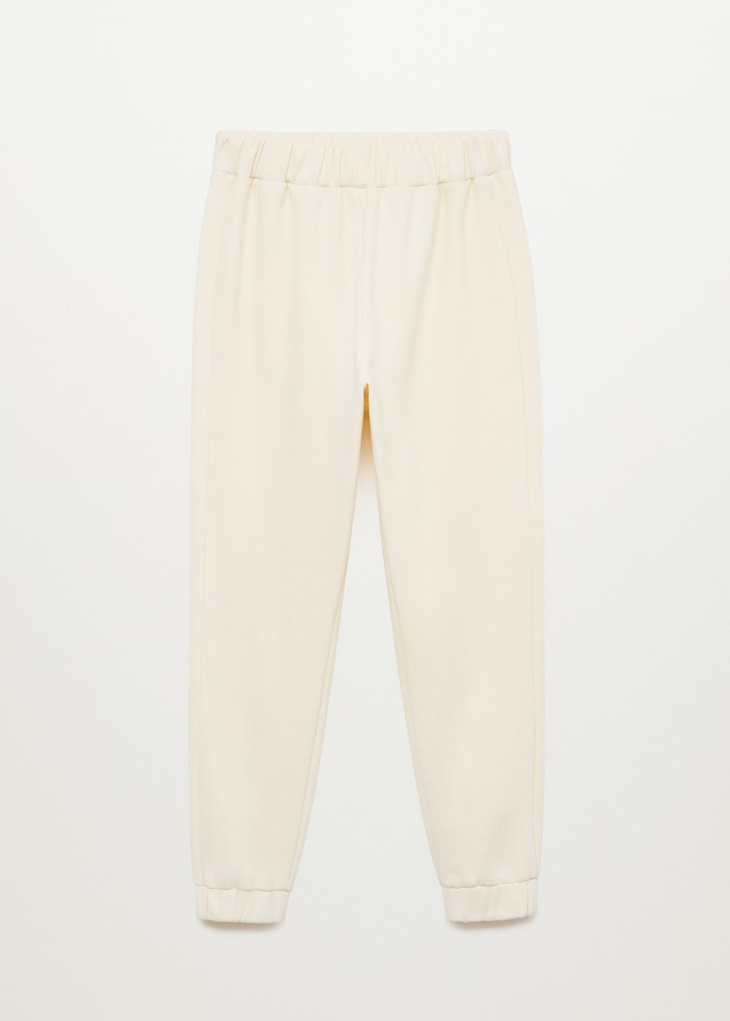 Cotton jogger-style trousers 8
