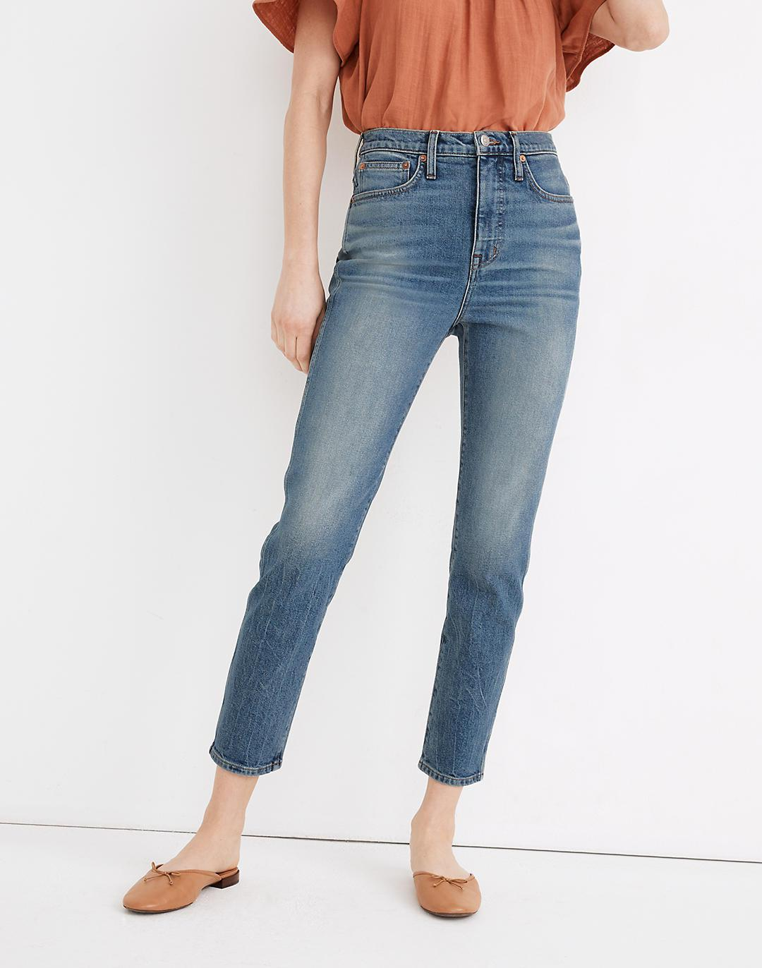 Rivet & Thread High-Rise Stovepipe Jeans in Keyes Wash 3