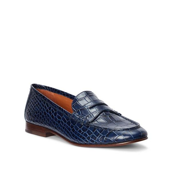 Ashtyn Embossed Leather Loafer 1