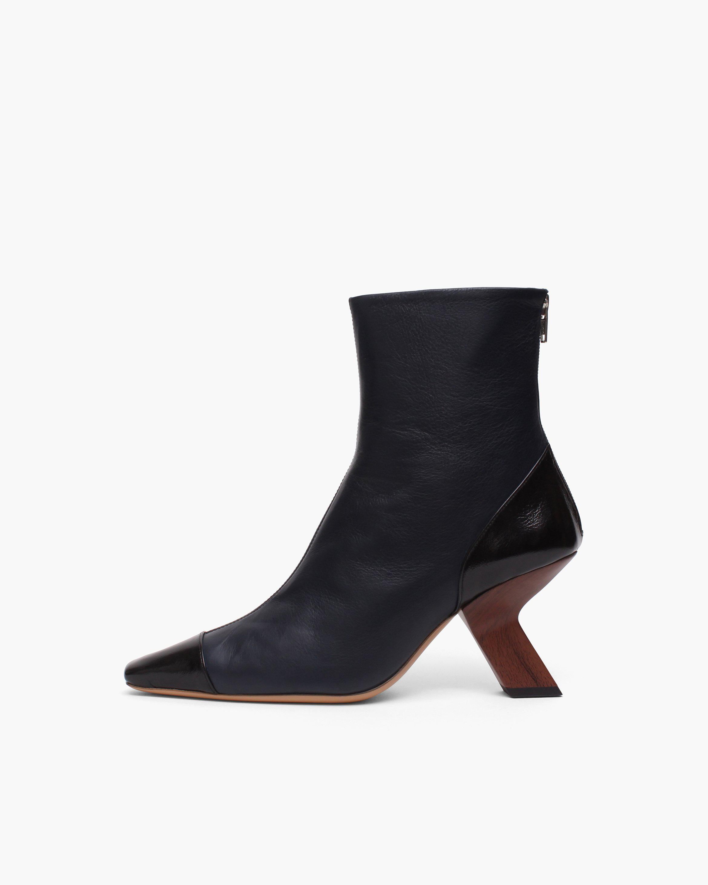 Marley Boots Leather Nappa Navy
