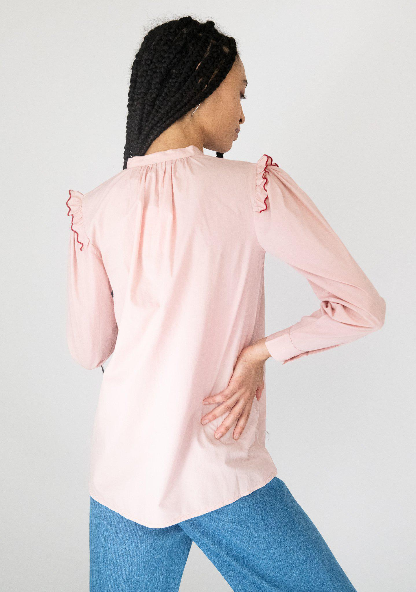 Lena Blouse in Pink 4