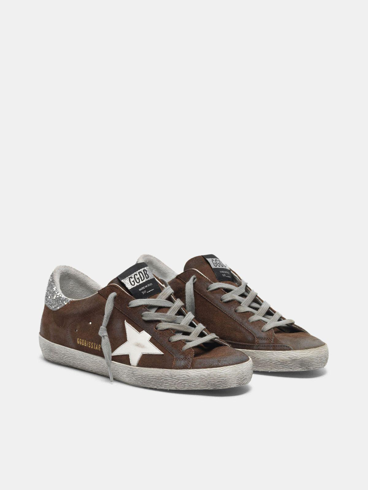Suede Super-Star sneakers with glittery heel tab 2