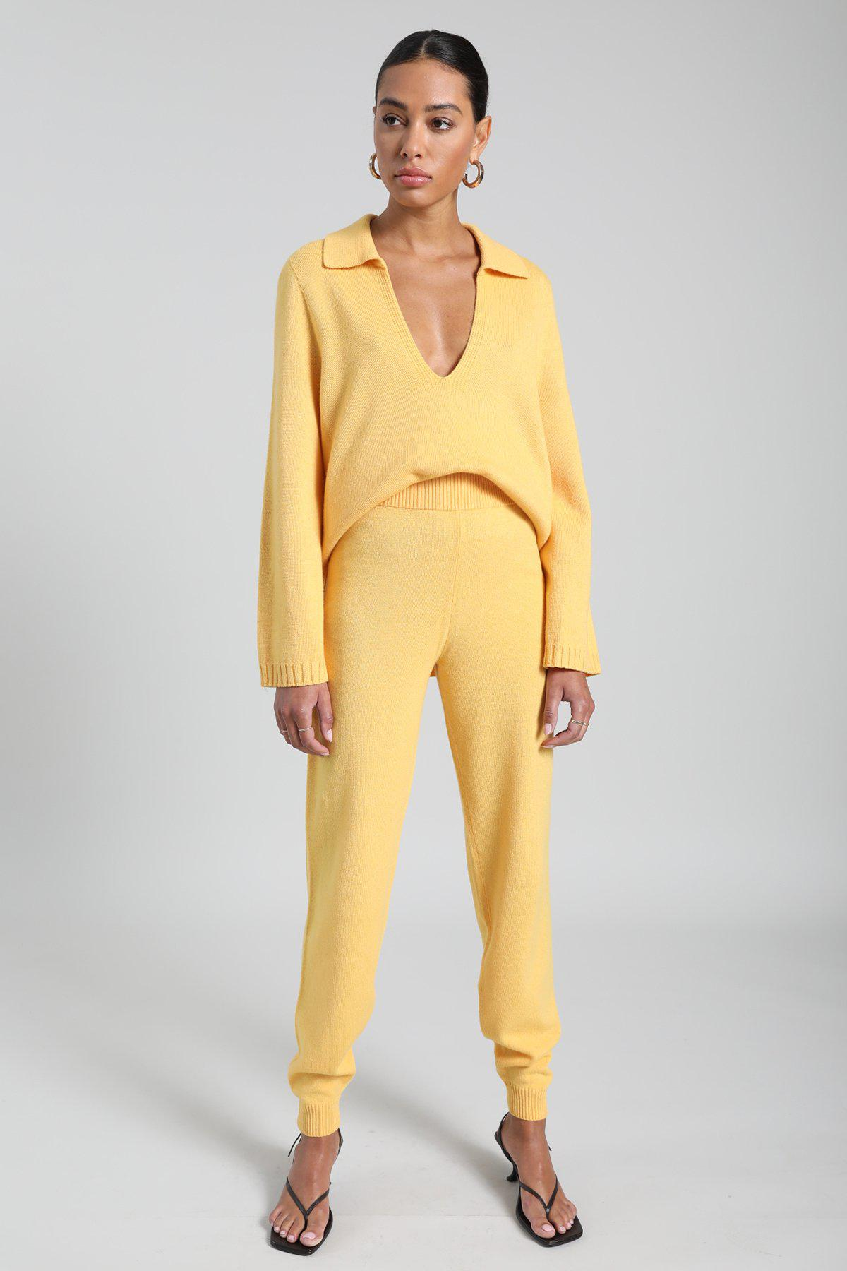Zoe Tapered Jogger Pant - Yellow