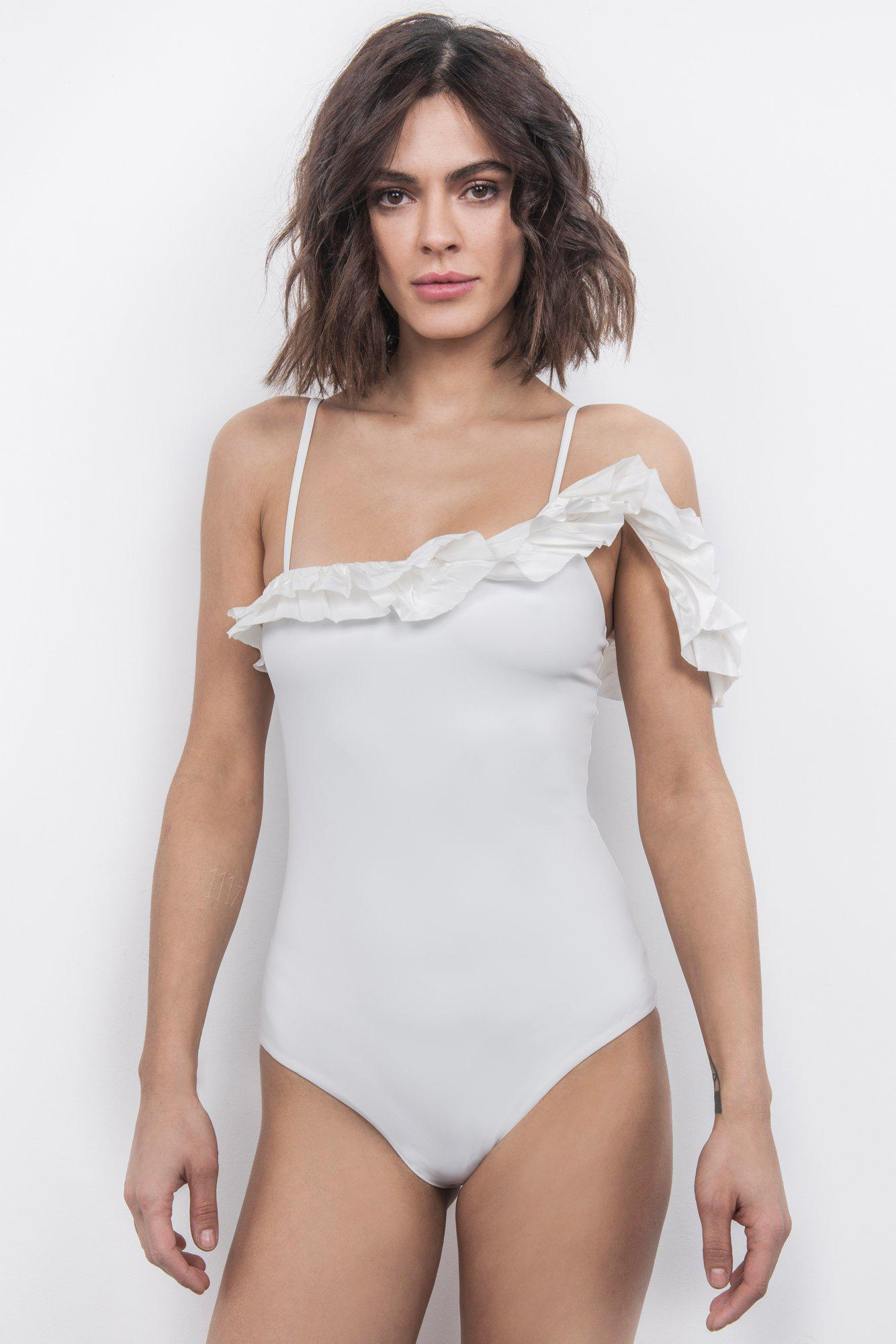 Peony Off-The-Shoulder One-Piece 2