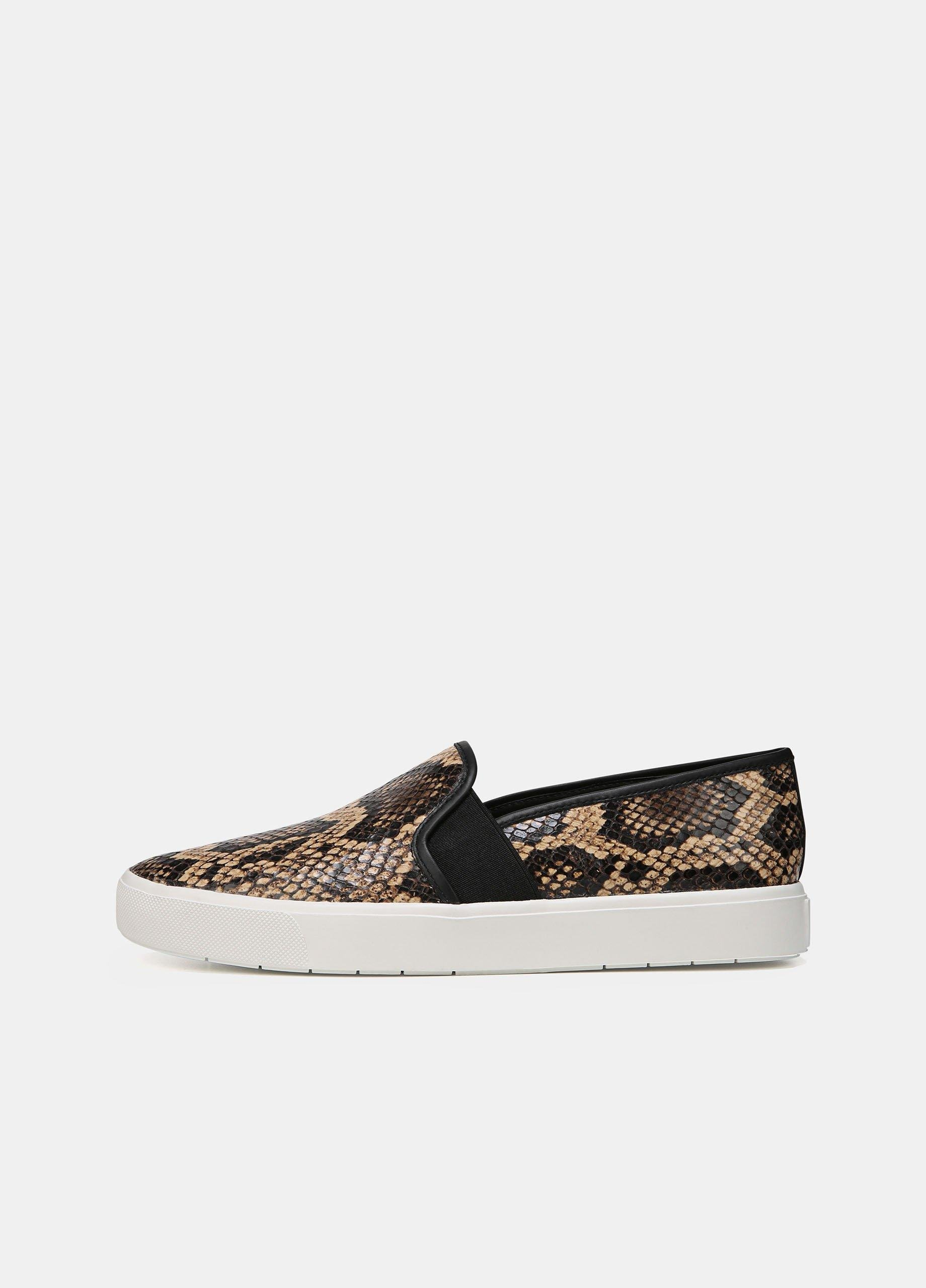 Snake-Effect Leather Blair-5 Sneakers