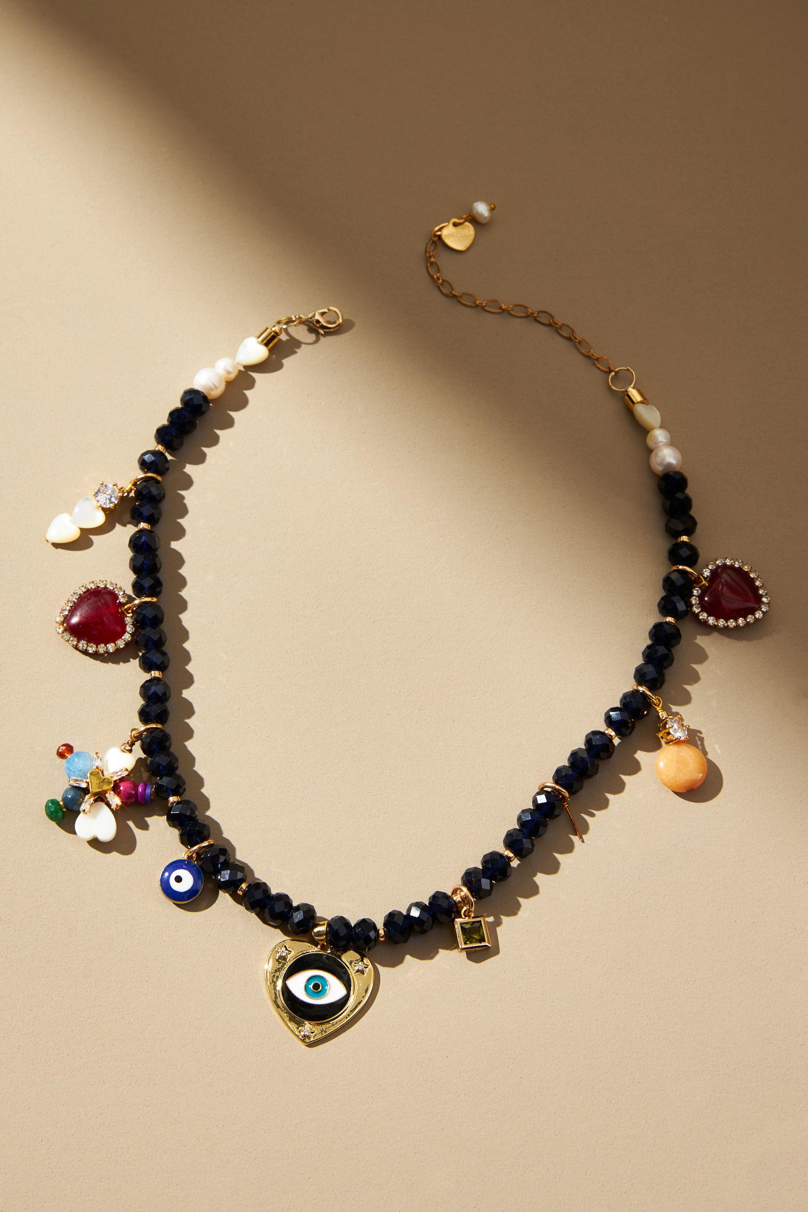 Eclectic Charm Beaded Necklace