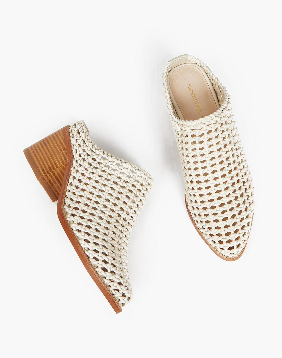 INTENTIONALLY BLANK Caps Basket Mules