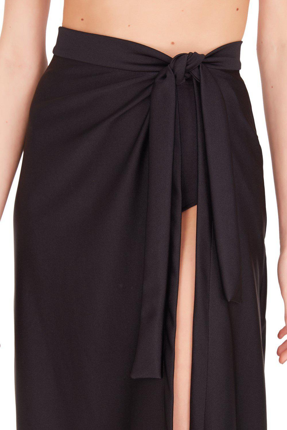 Fruits Exotiques Solid Pareo Skirt with Frills 4